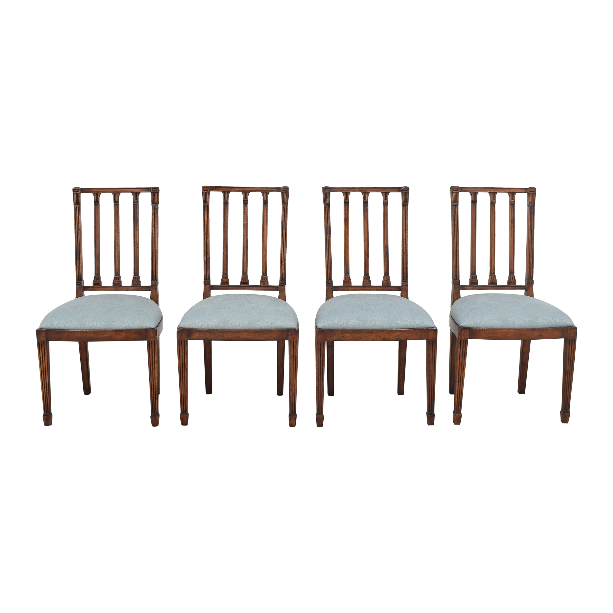English Country Home English Country Home Upholstered Dining Chairs ma