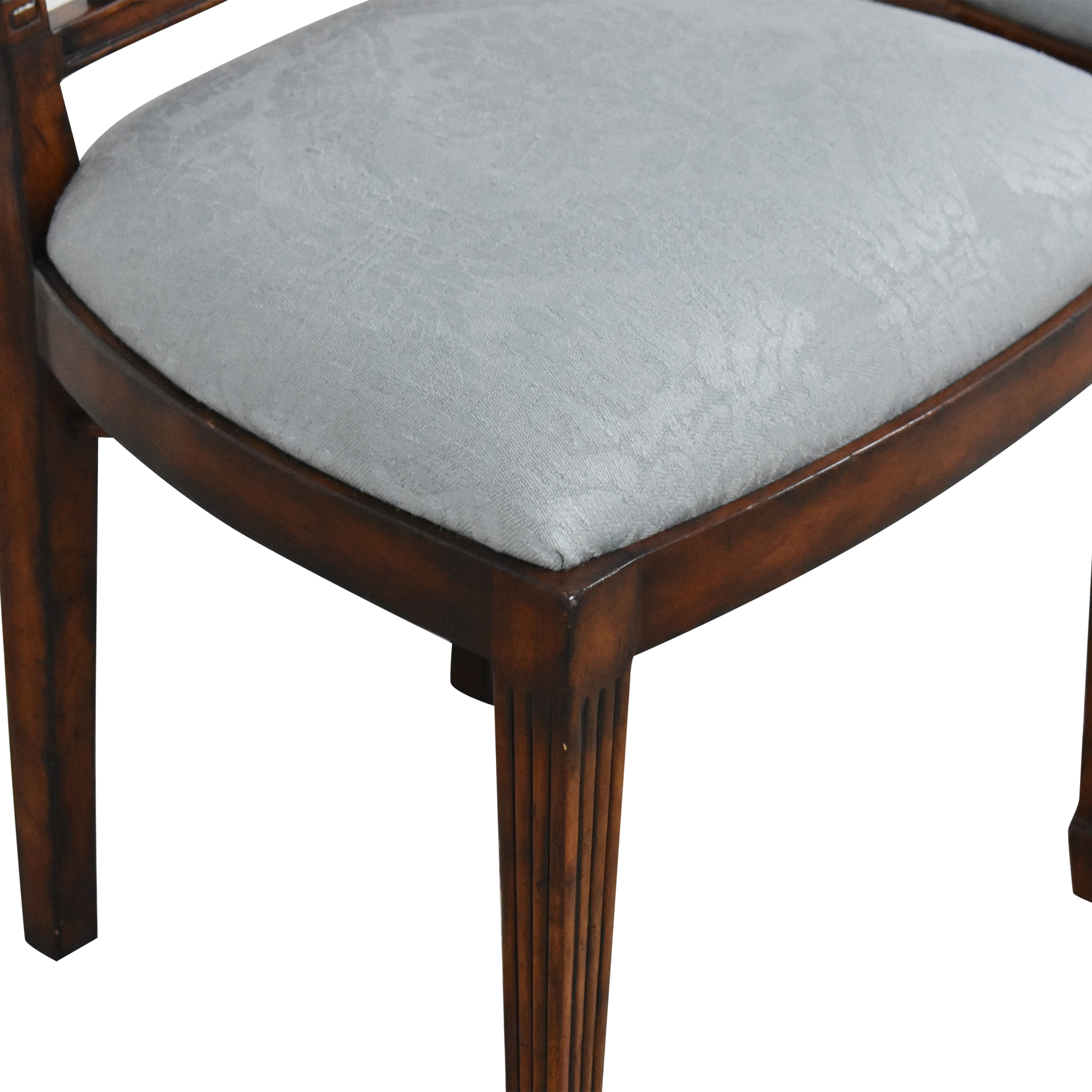 English Country Home Upholstered Dining Chairs / Chairs