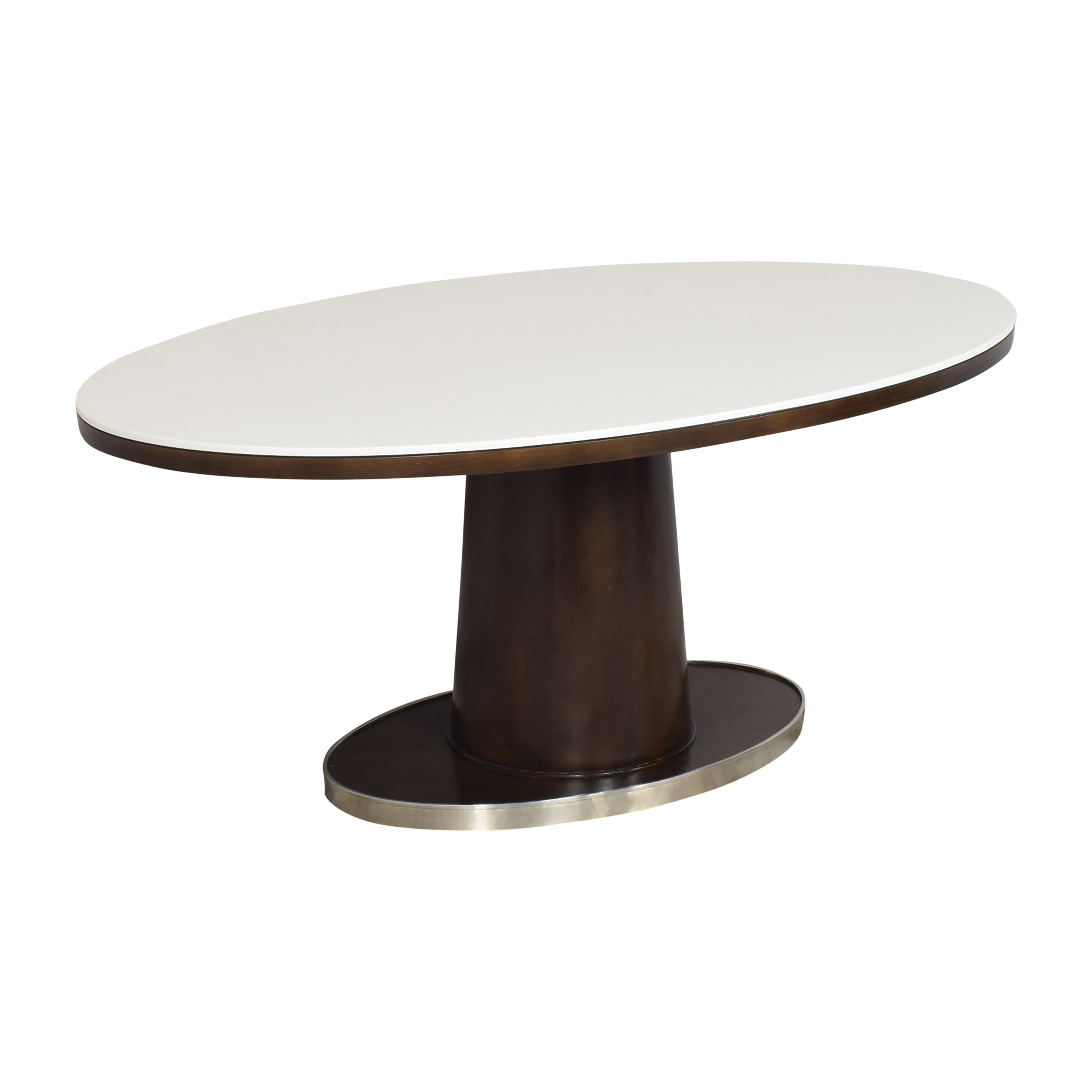 buy McGuire Barbara Barry Classic Oval Pedestal Table McGuire