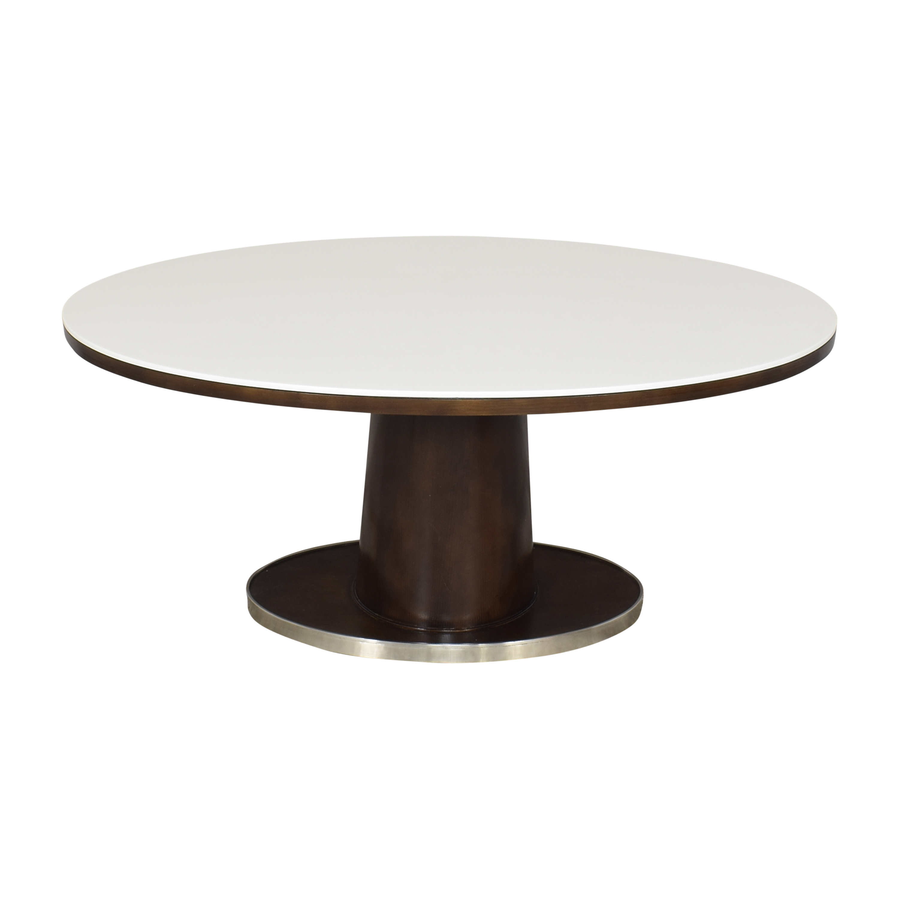 McGuire McGuire Barbara Barry Classic Oval Pedestal Table Dinner Tables