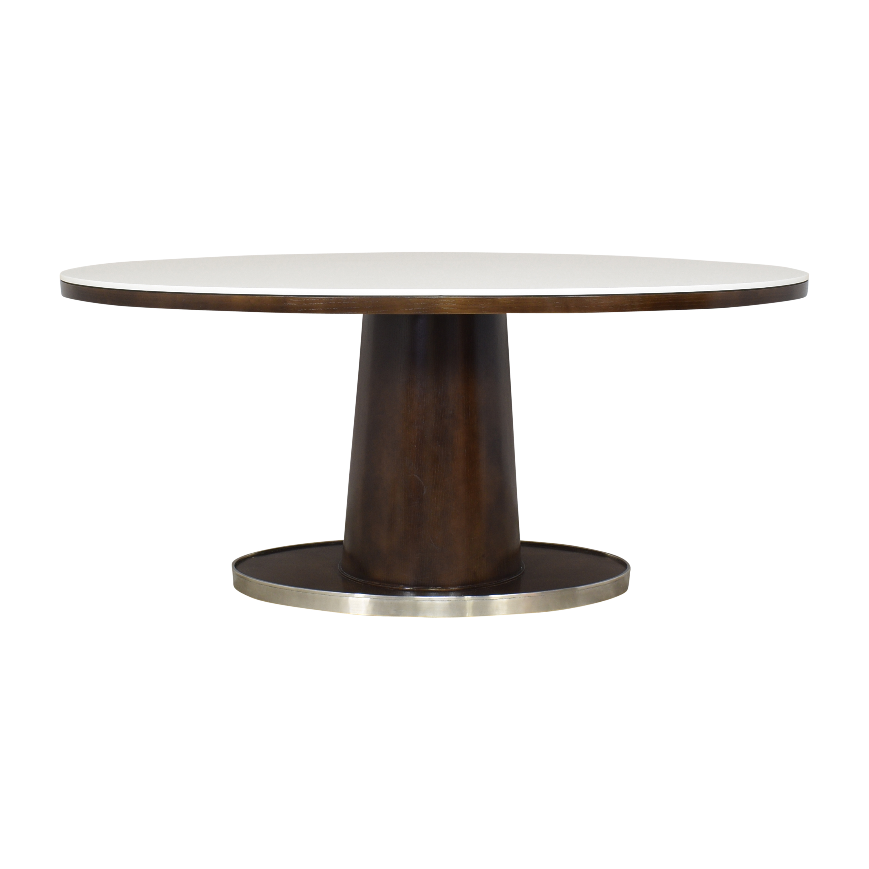 shop McGuire Barbara Barry Classic Oval Pedestal Table McGuire Dinner Tables