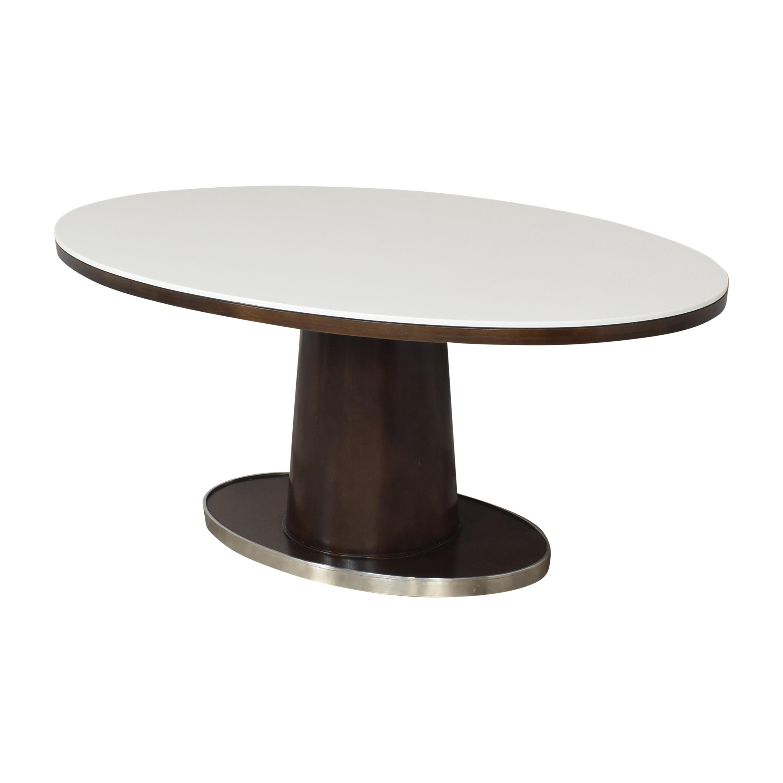 McGuire McGuire Barbara Barry Classic Oval Pedestal Table price