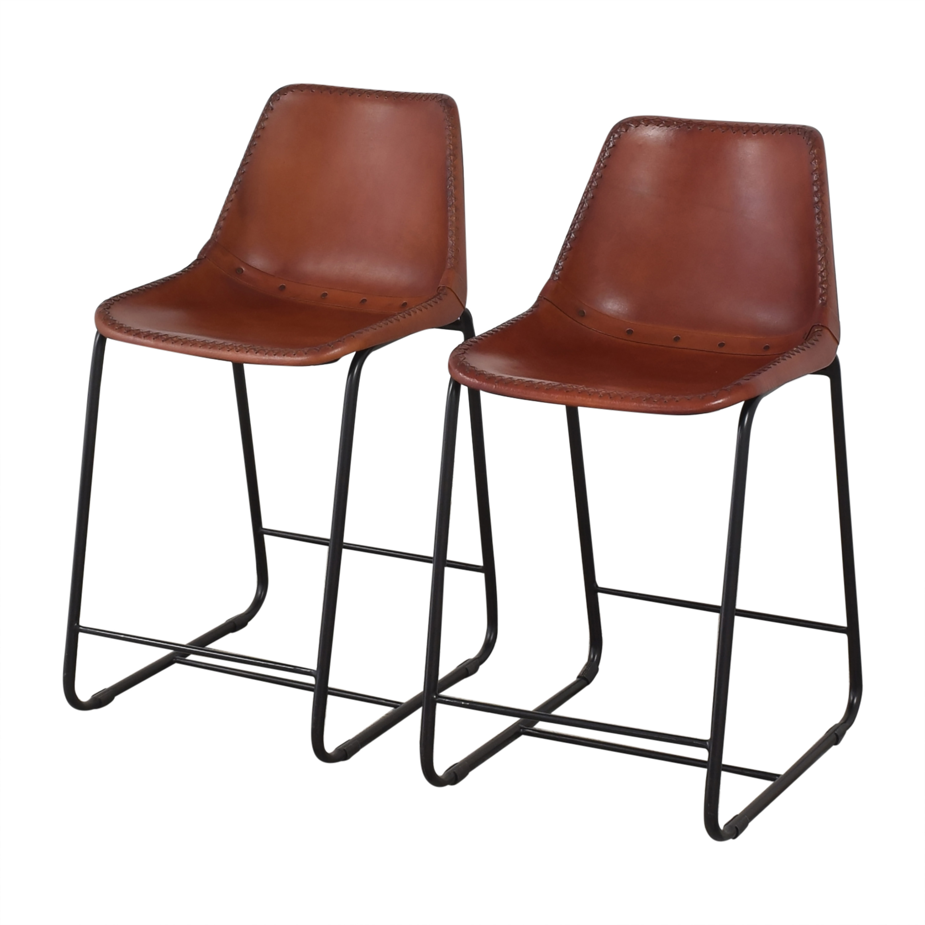 CB2 CB2 Roadhouse Counter Stools brown and black