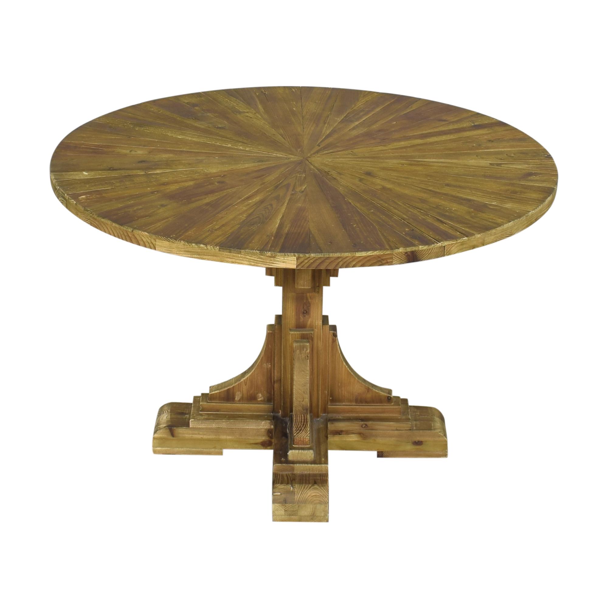 Wayfair Wayfair One Allium Way Davi Pedestal Dining Table discount
