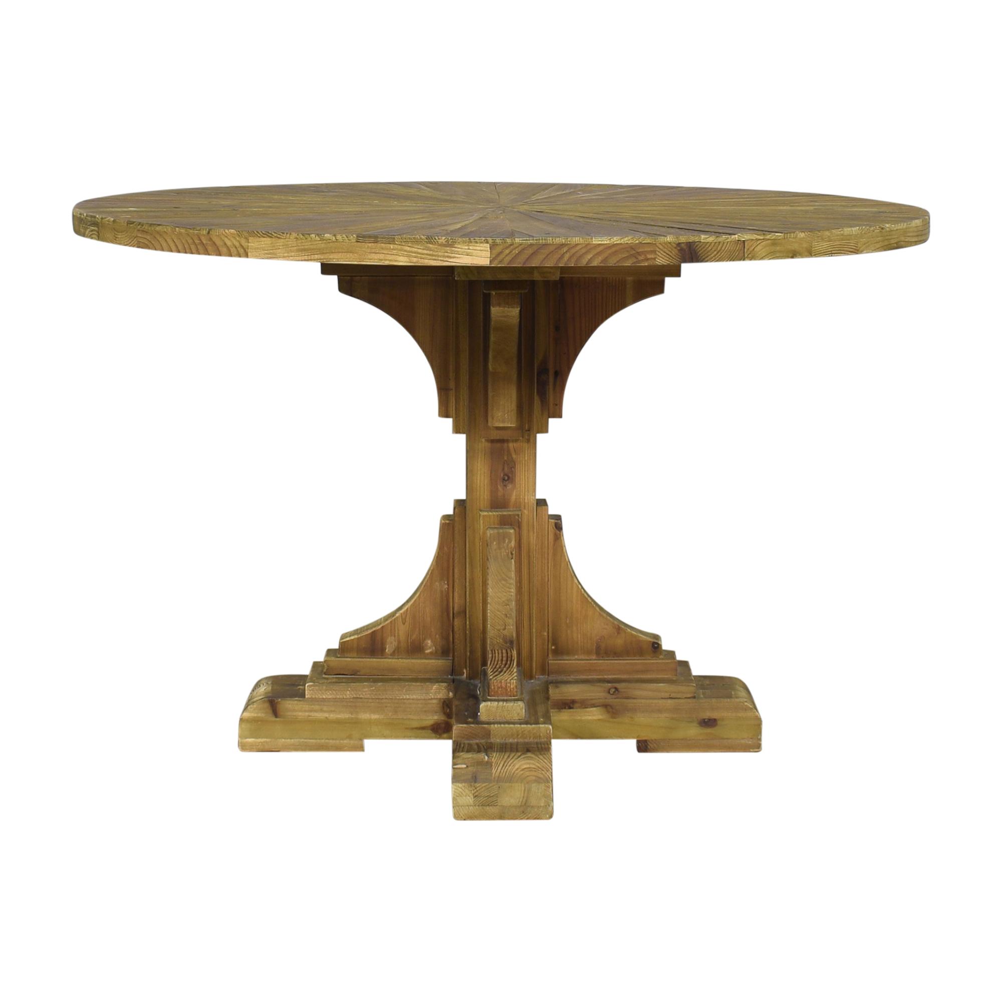 Wayfair Wayfair One Allium Way Davi Pedestal Dining Table dimensions