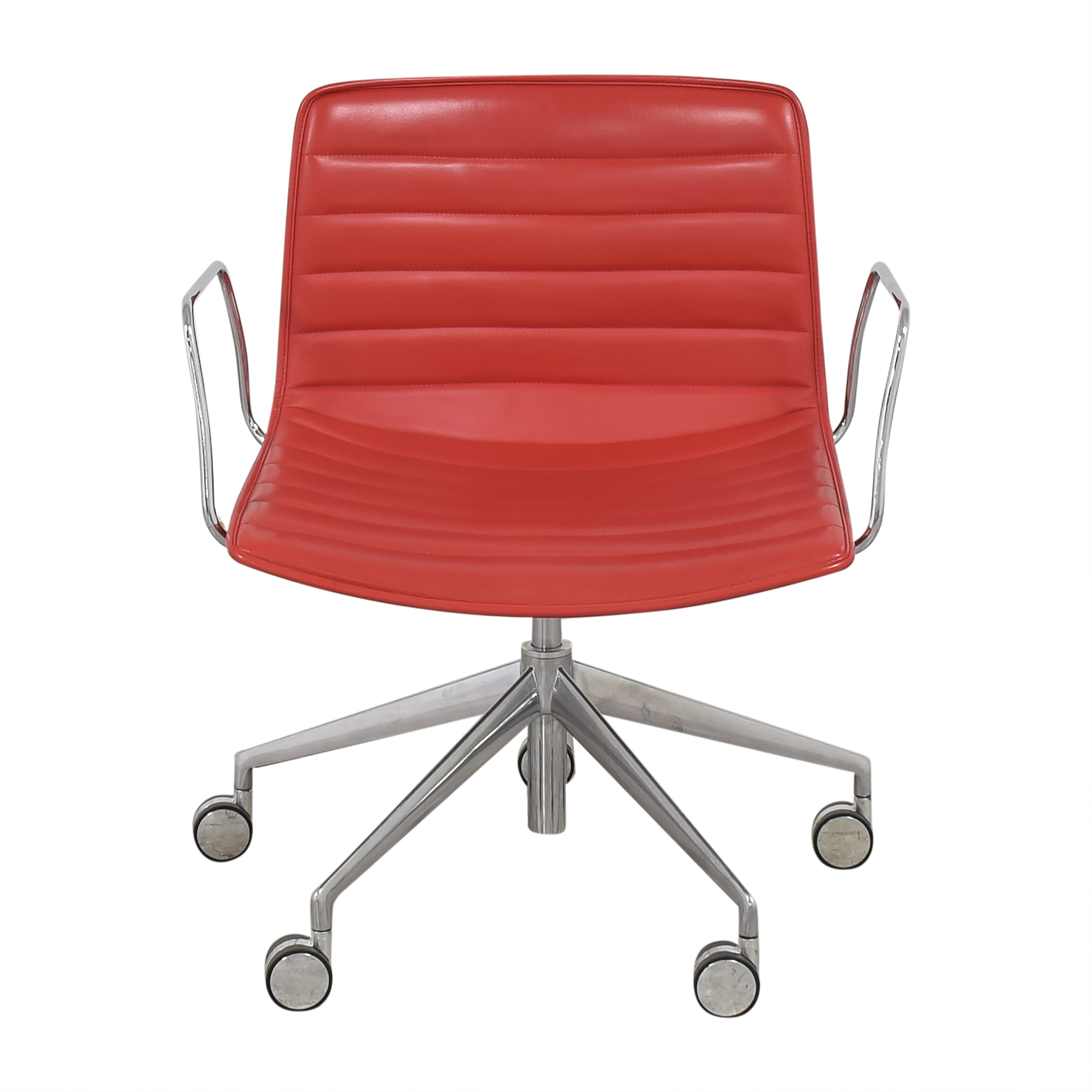 Gordon International Gordon International Catifa Arm Chair red and silver
