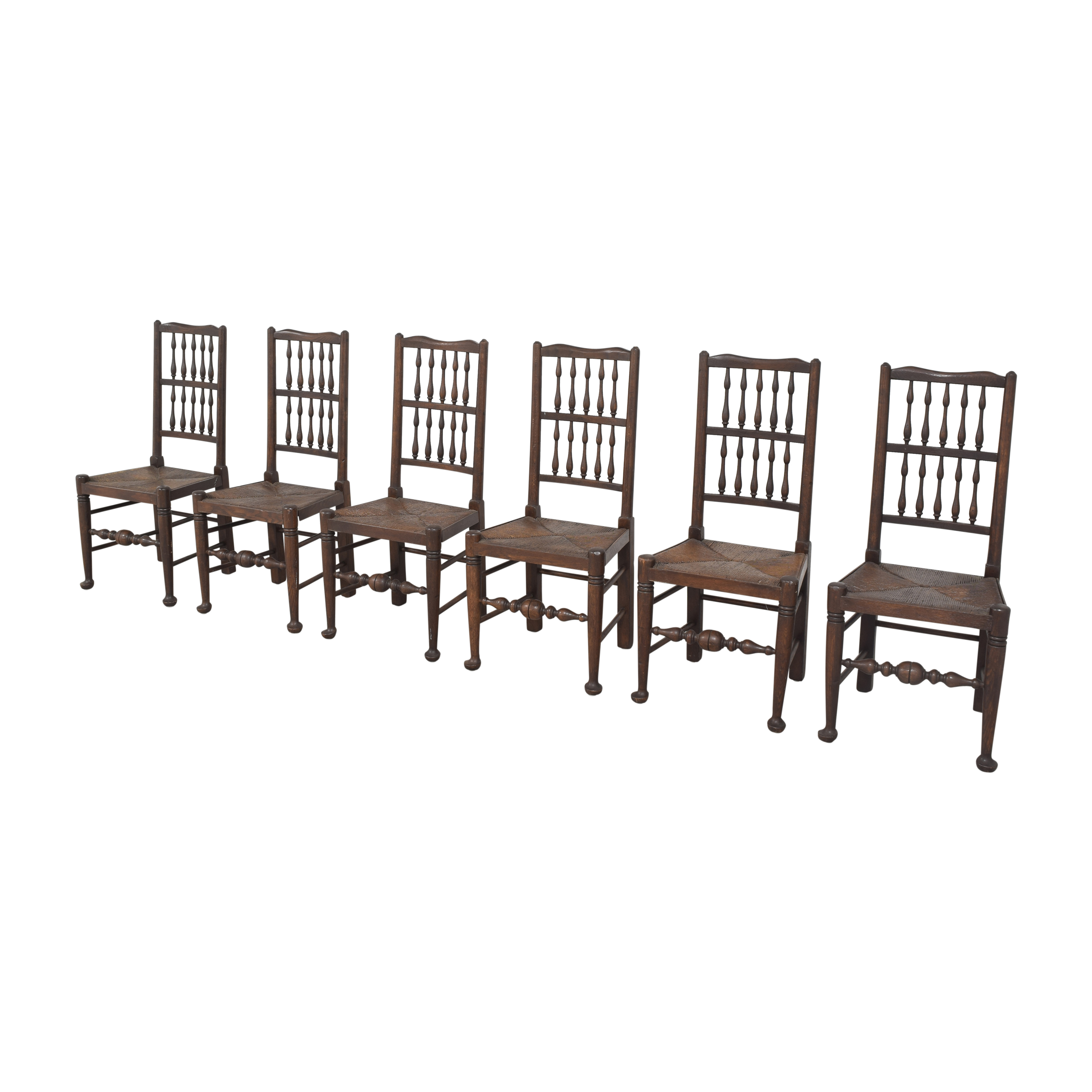 buy Spindle Back Rush Seat Dining Chairs  Dining Chairs