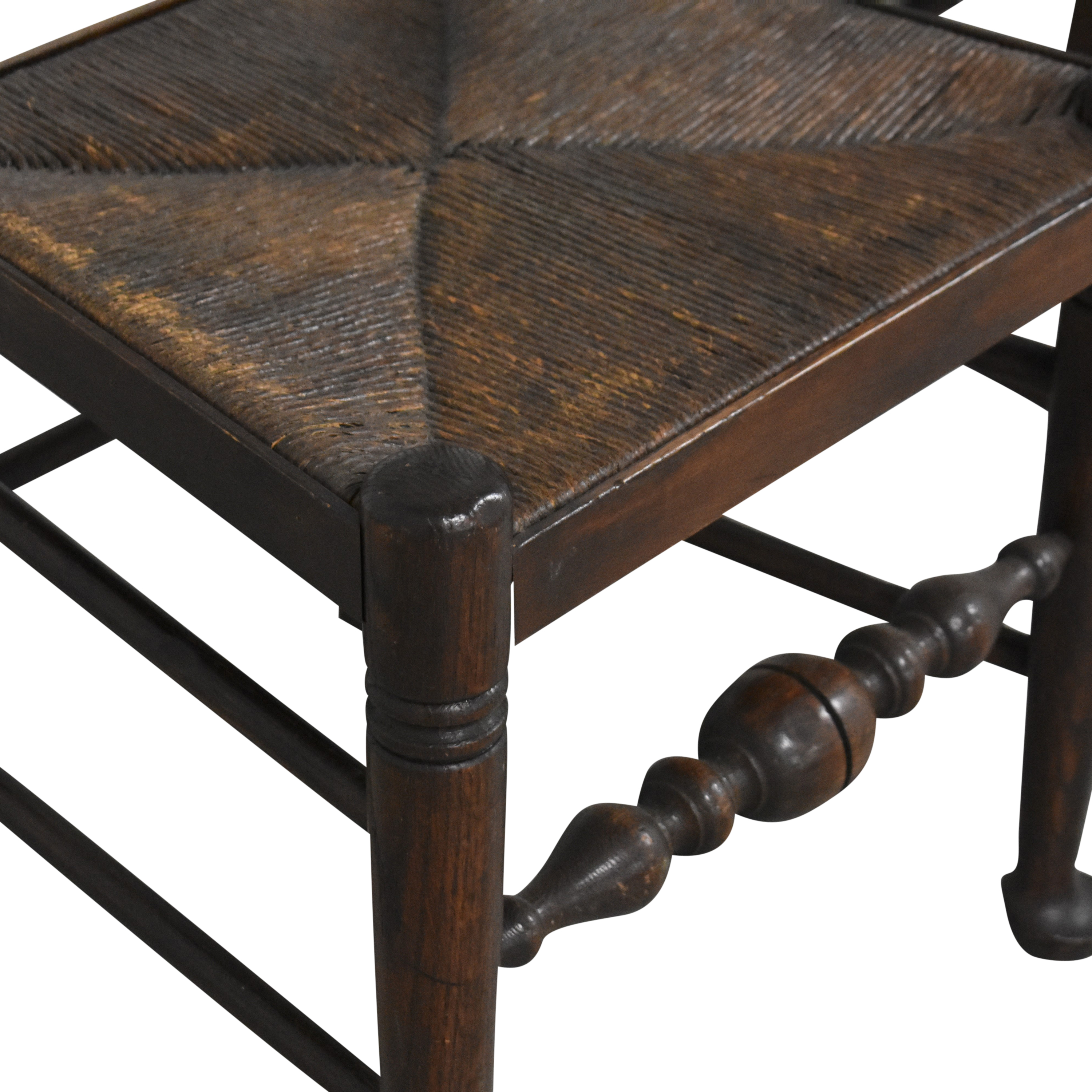 Spindle Back Rush Seat Dining Chairs ct