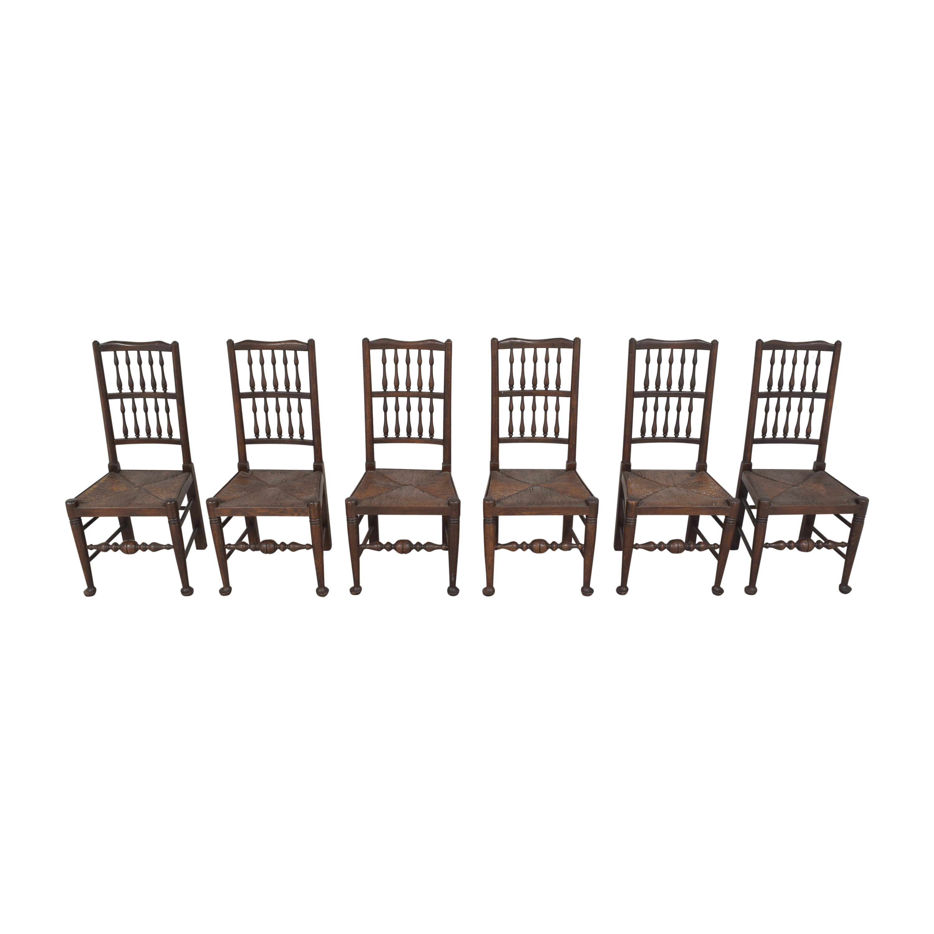 shop Spindle Back Rush Seat Dining Chairs