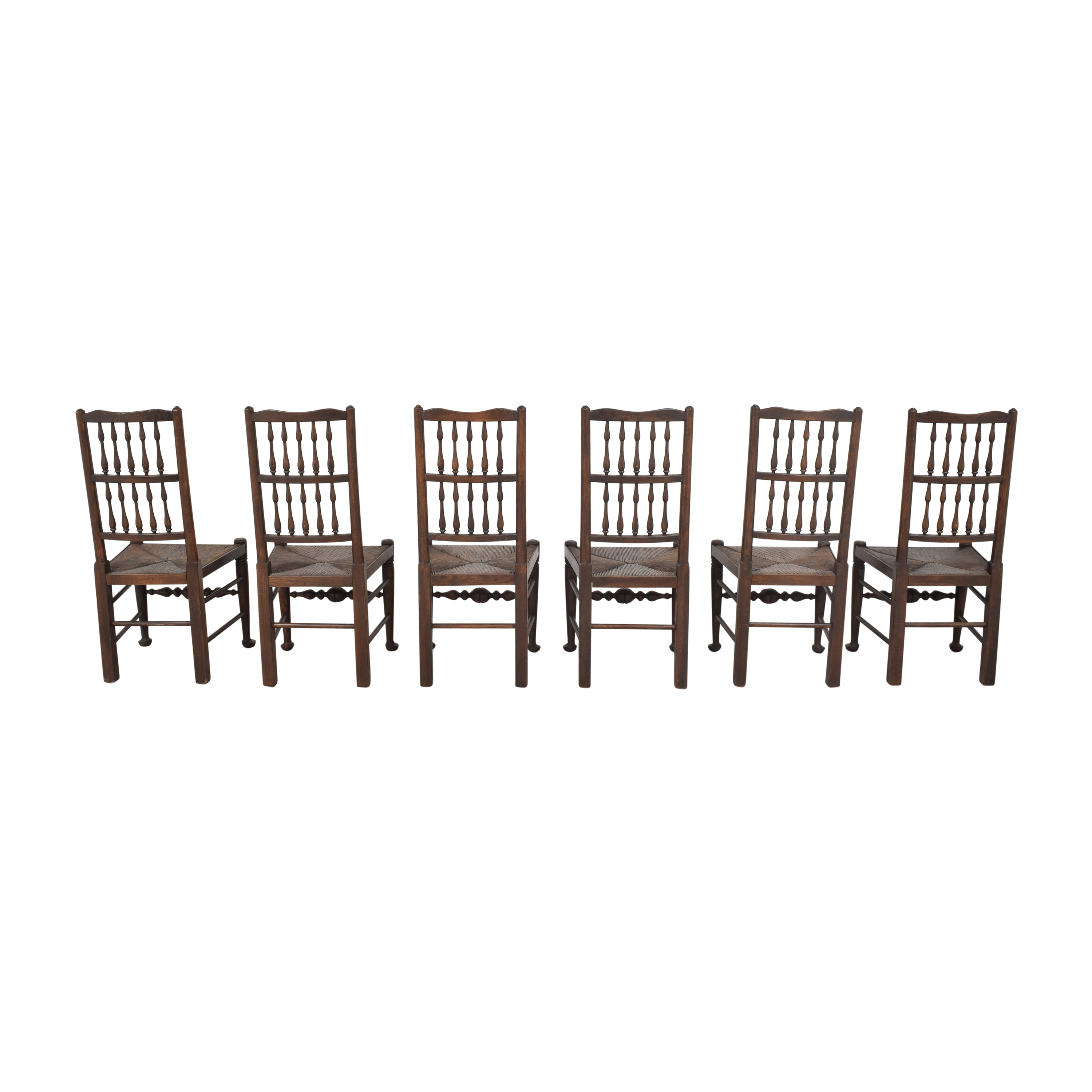 buy  Spindle Back Rush Seat Dining Chairs online
