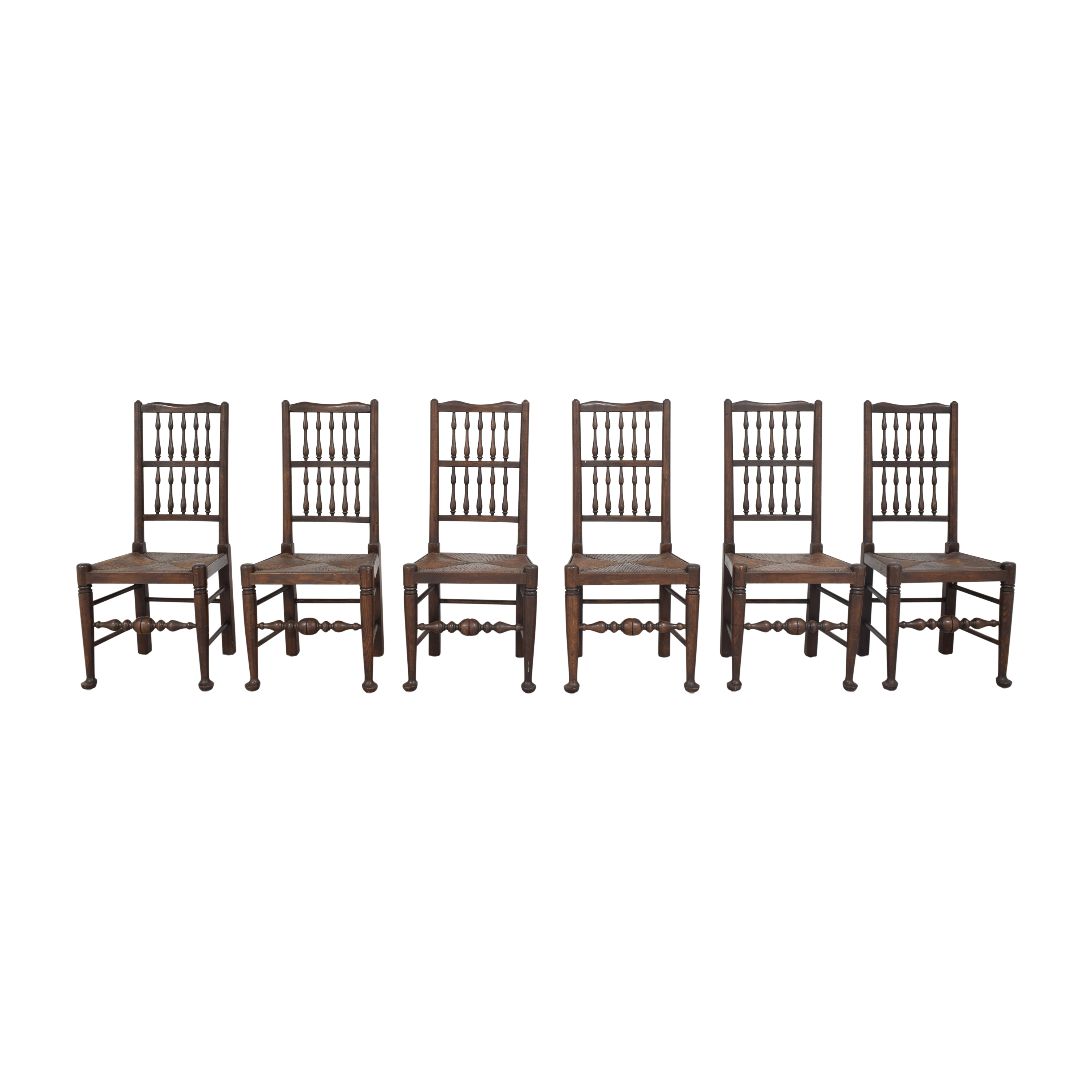 shop Spindle Back Rush Seat Dining Chairs  Dining Chairs