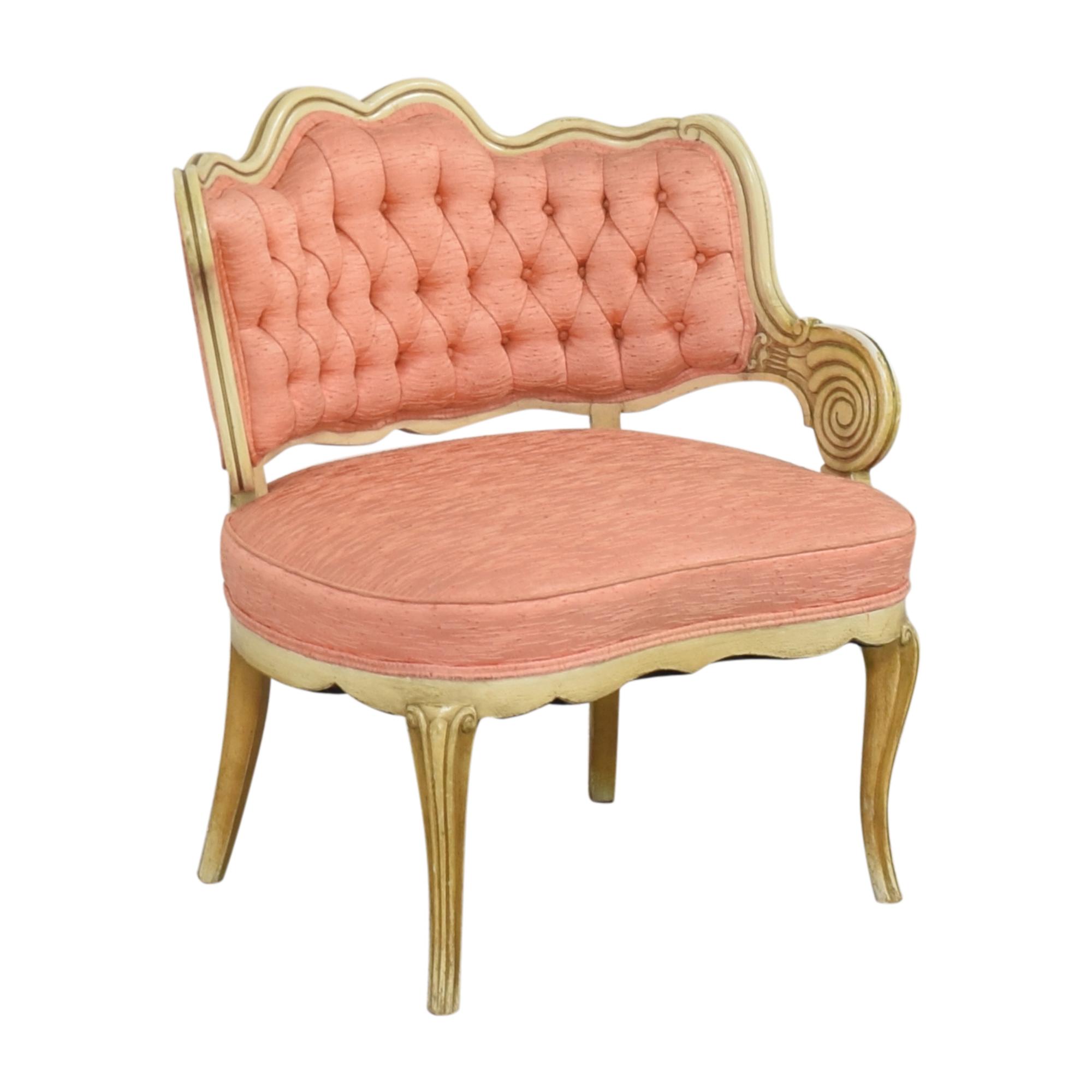Vintage Boudoir Single Arm Accent Chair pa