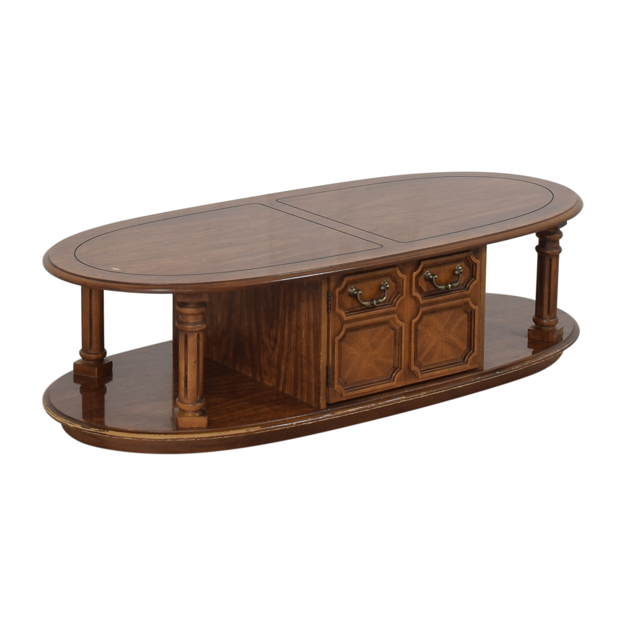Oval Coffee Table brown