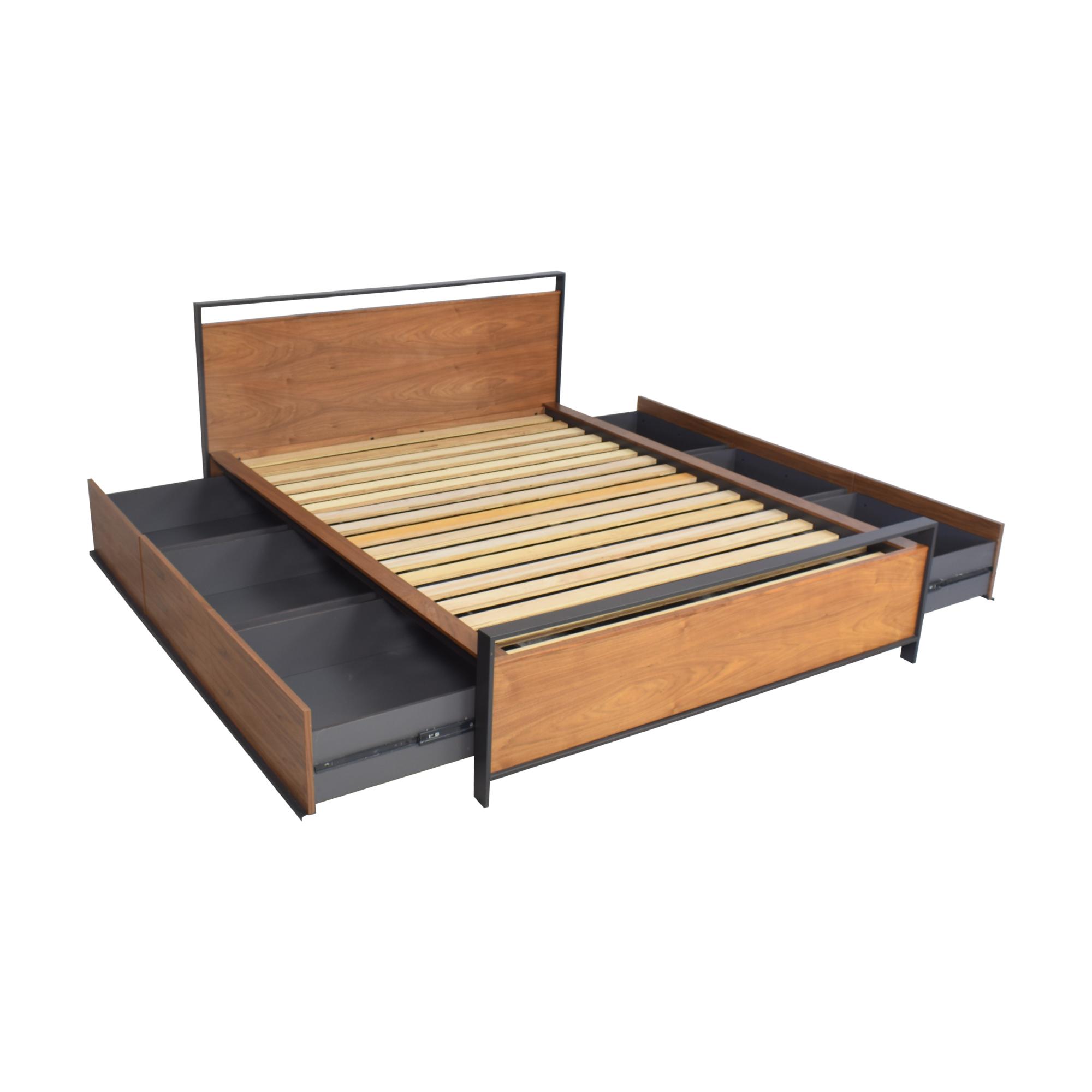 shop Crate & Barrel Bowery Storage Queen Bed Crate & Barrel Beds