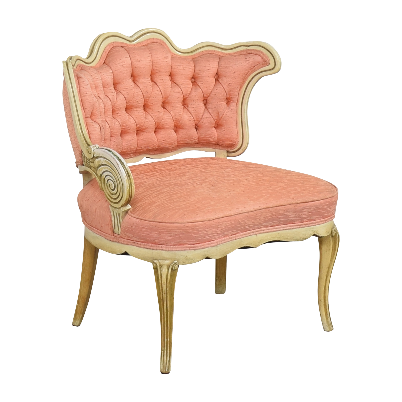 Vintage Boudoir Single Arm Accent Chair dimensions