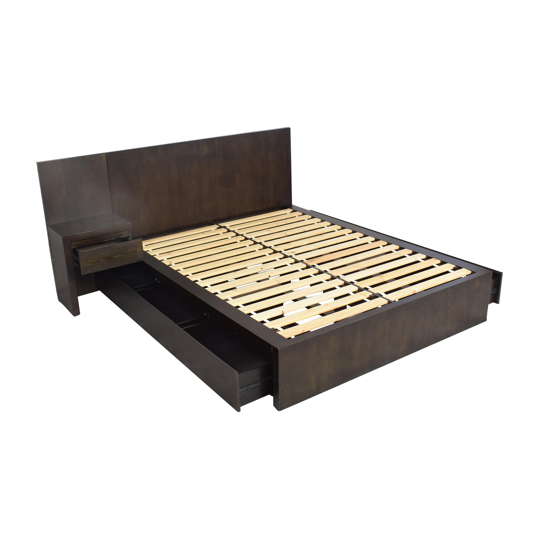 West Elm Storage Platform Queen Bed with Nightstand / Bed Frames