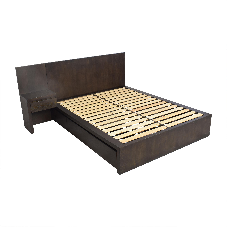 West Elm West Elm Storage Platform Queen Bed with Nightstand pa