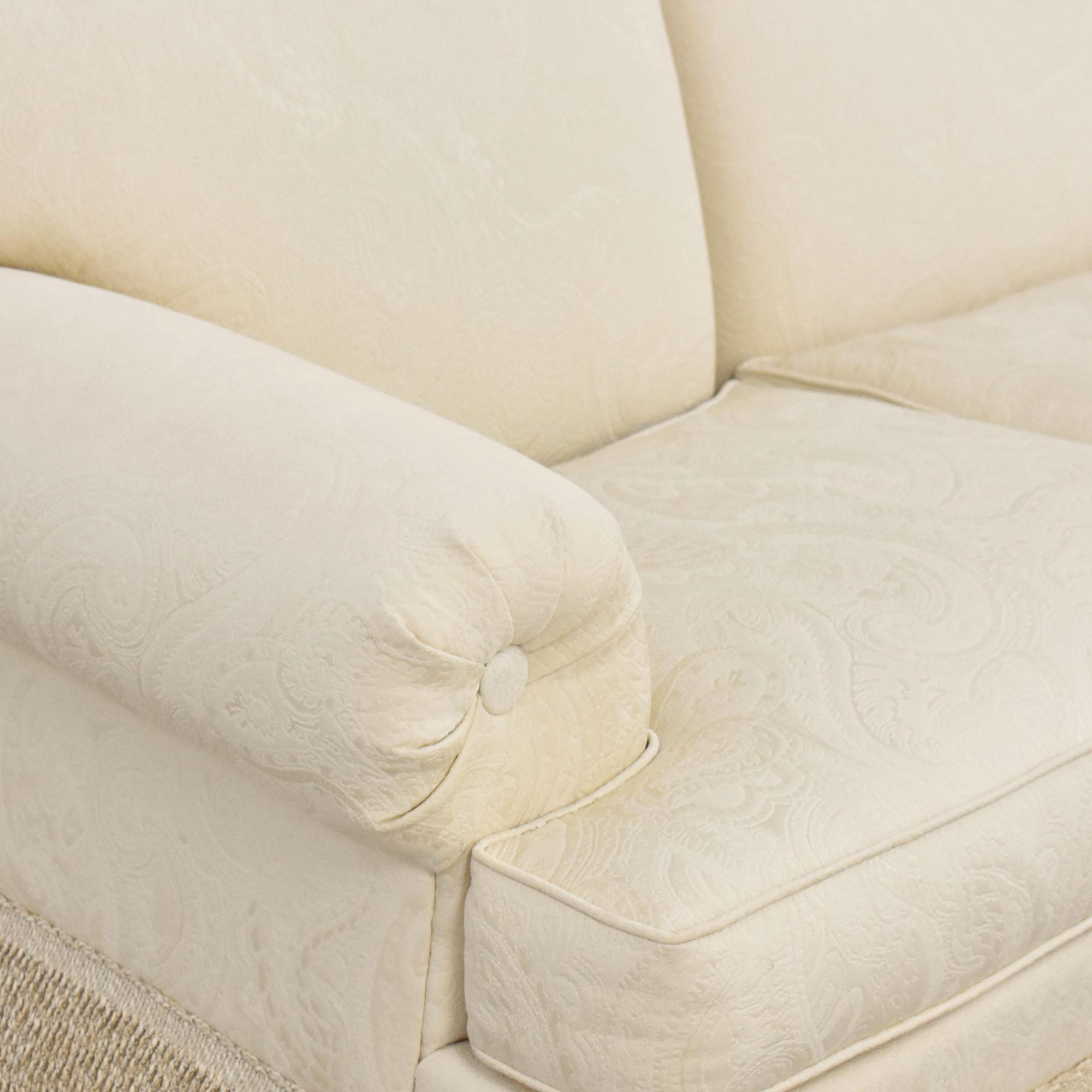 Ethan Allen Ethan Allen Fringed Three Cushion Sofa
