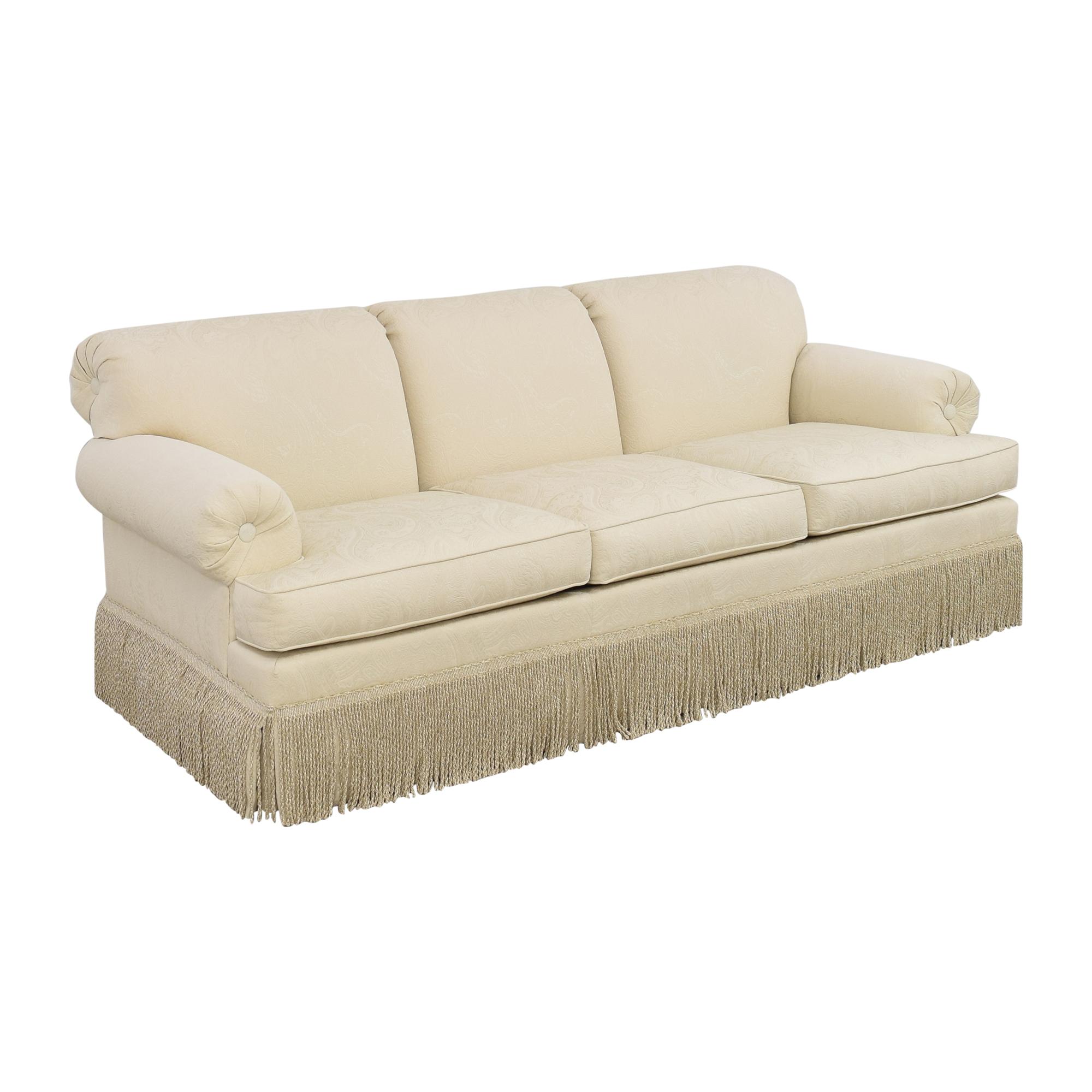 Ethan Allen Ethan Allen Fringed Three Cushion Sofa dimensions