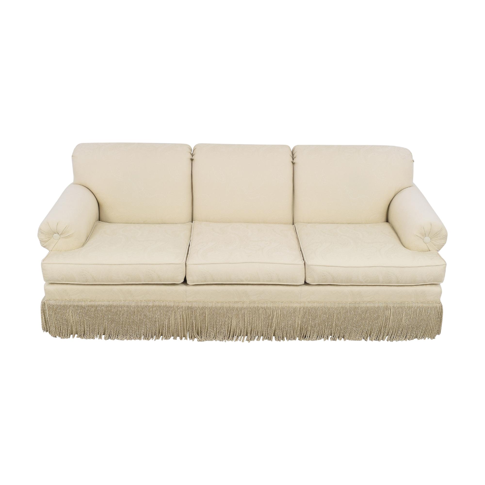 buy Ethan Allen Fringed Three Cushion Sofa Ethan Allen Sofas
