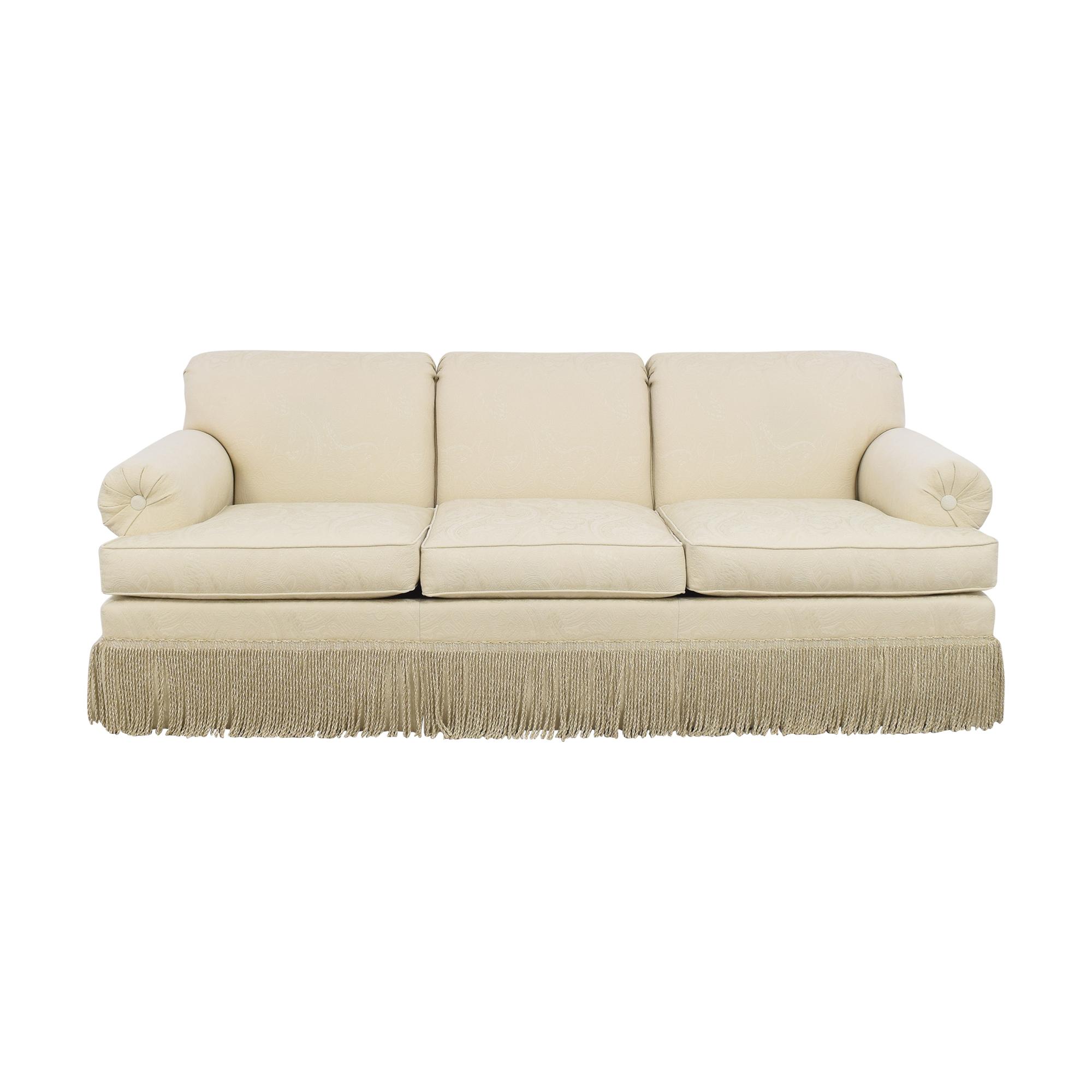 Ethan Allen Ethan Allen Fringed Three Cushion Sofa nyc