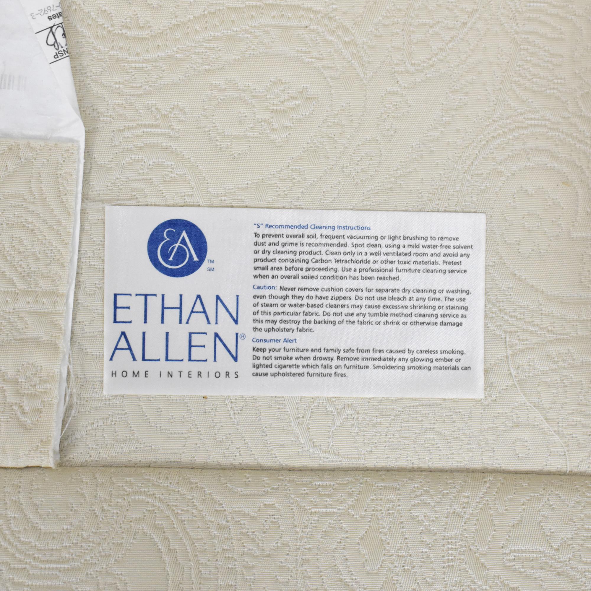 Ethan Allen Ethan Allen Fringed Three Cushion Sofa off white