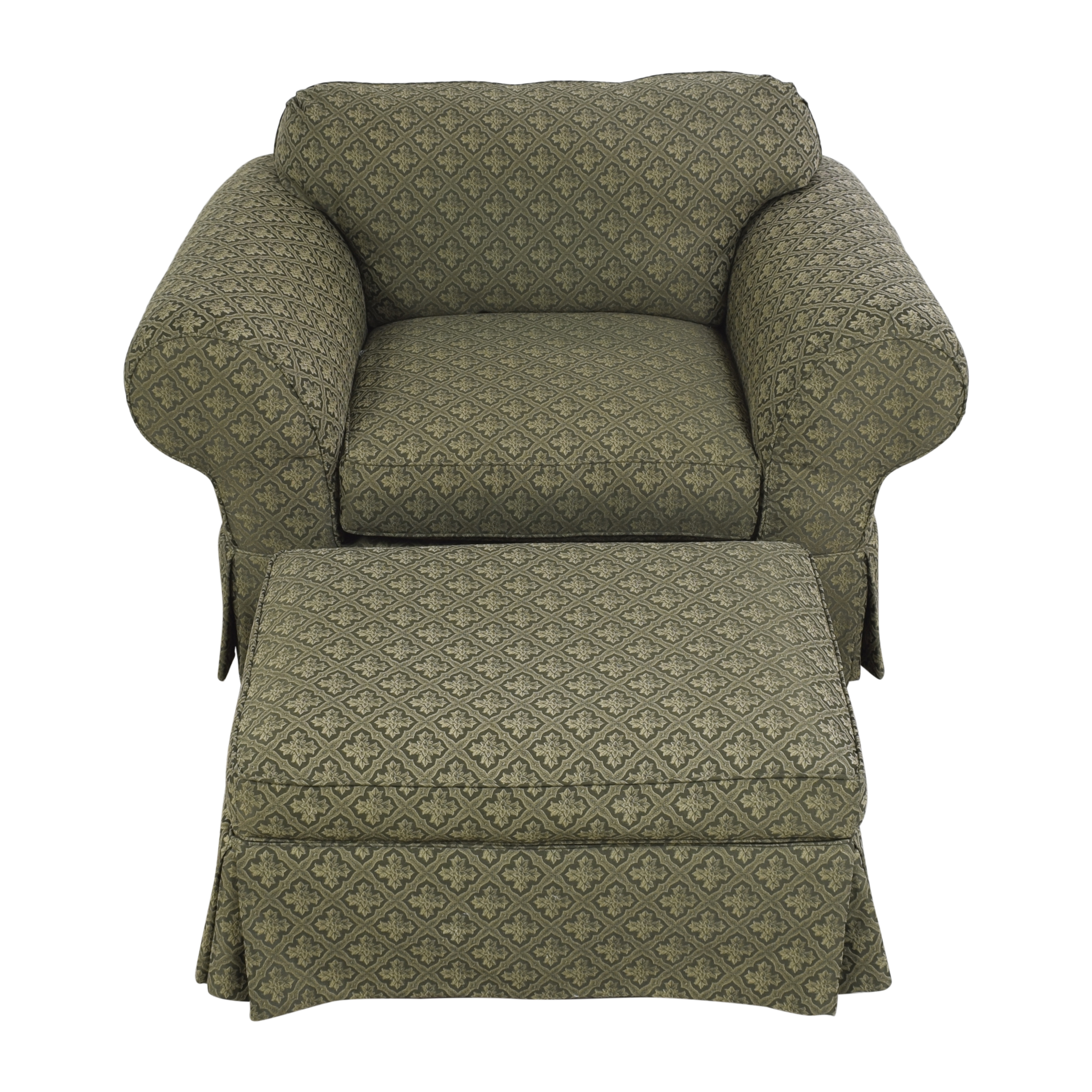 Broyhill Furniture Broyhill Lounge Chair with Ottoman nyc