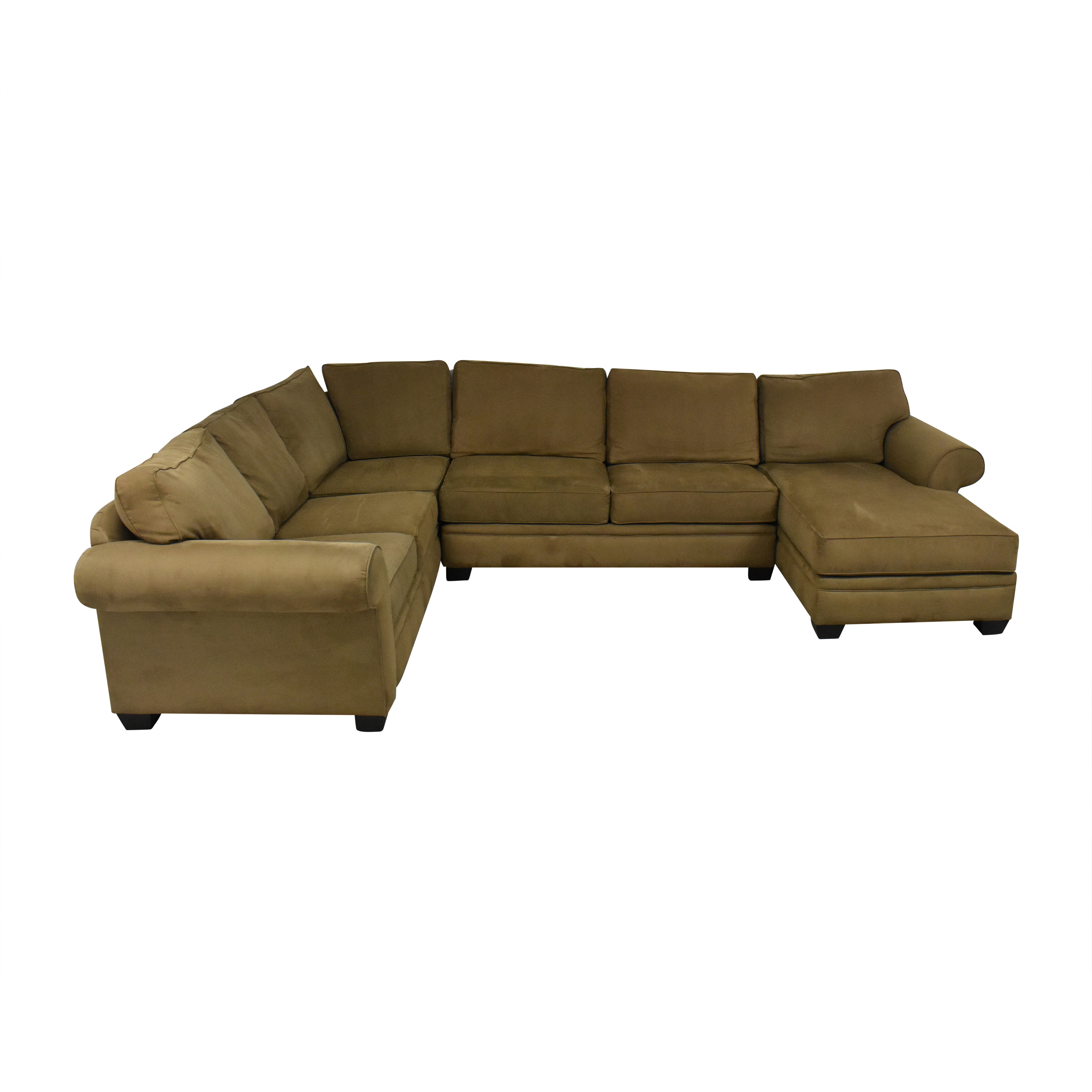 Macy's Macy's Corner Sectional Sofa with Chaise dimensions