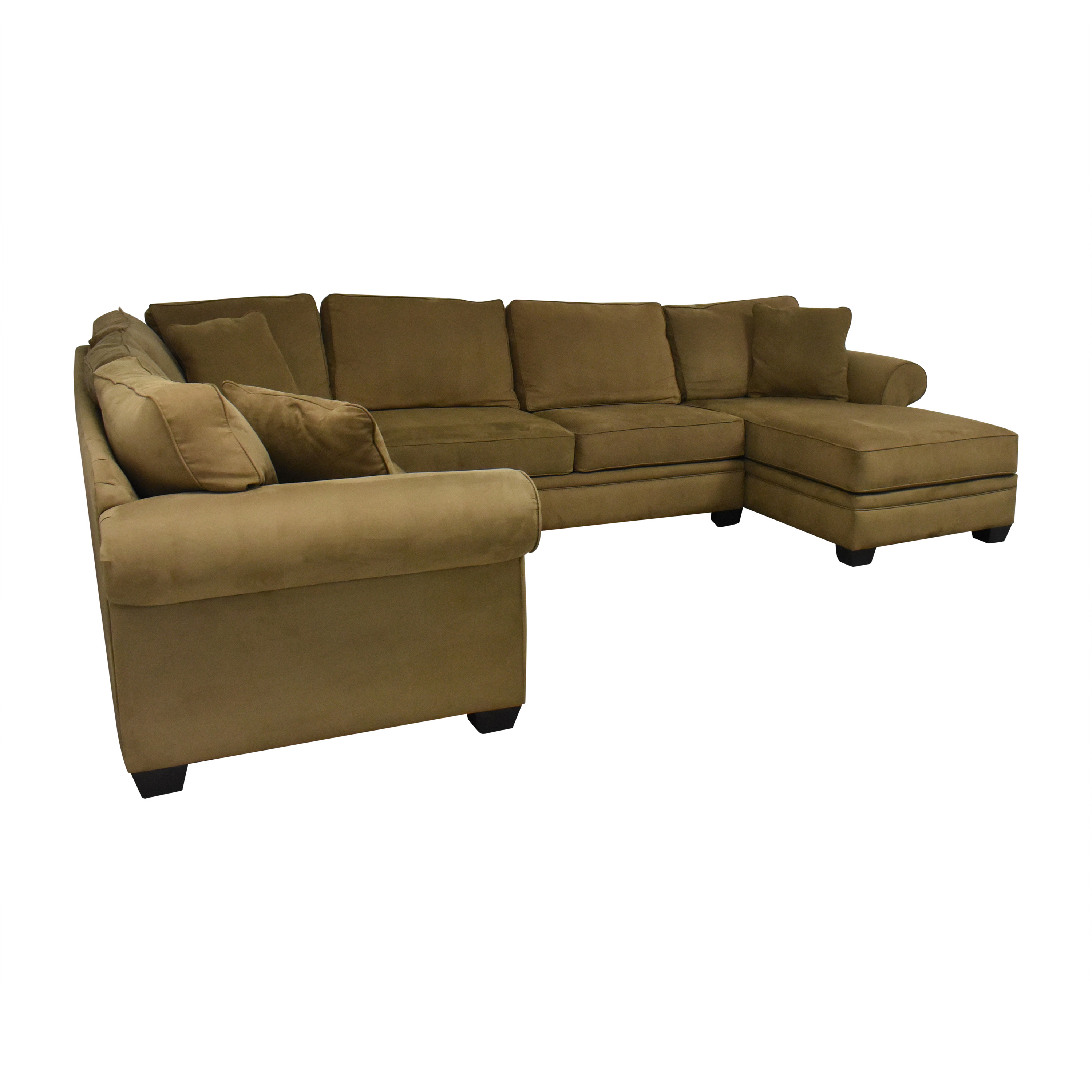 shop Macy's Corner Sectional Sofa with Chaise Macy's Sectionals