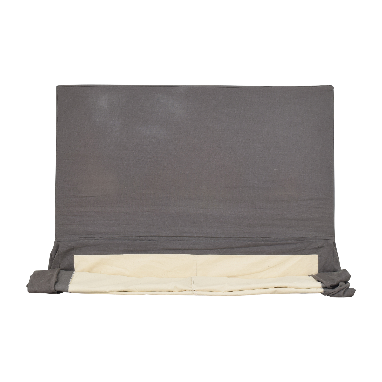 Restoration Hardware Restoration Hardware Parsons Slipcovered Queen Headboard Beds