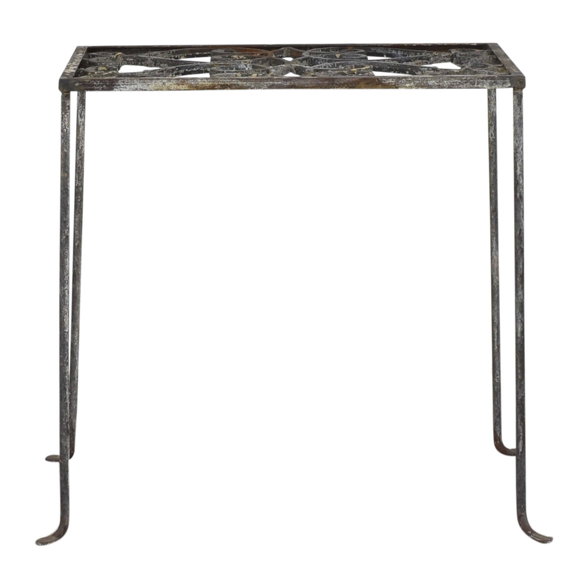 Anthropologie Decorative Accent Table gray