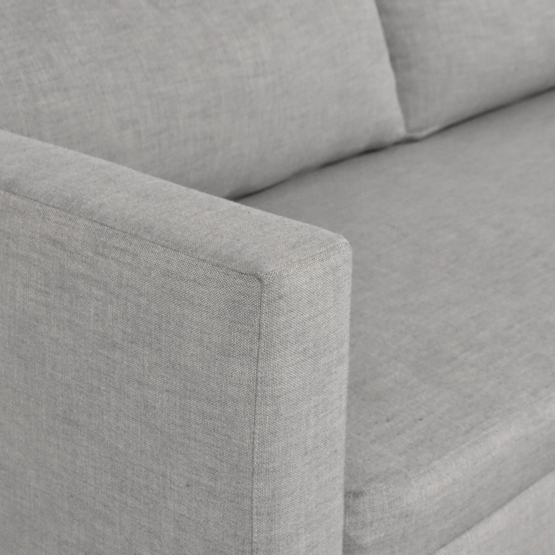 Restoration Hardware Modena Shelter Arm Sofa with Bench Seat sale
