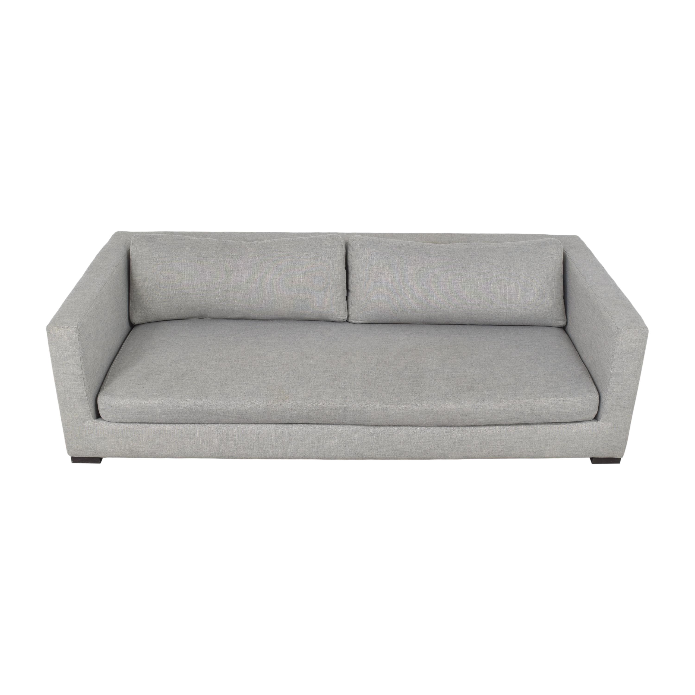buy Restoration Hardware Modena Shelter Arm Sofa with Bench Seat Restoration Hardware