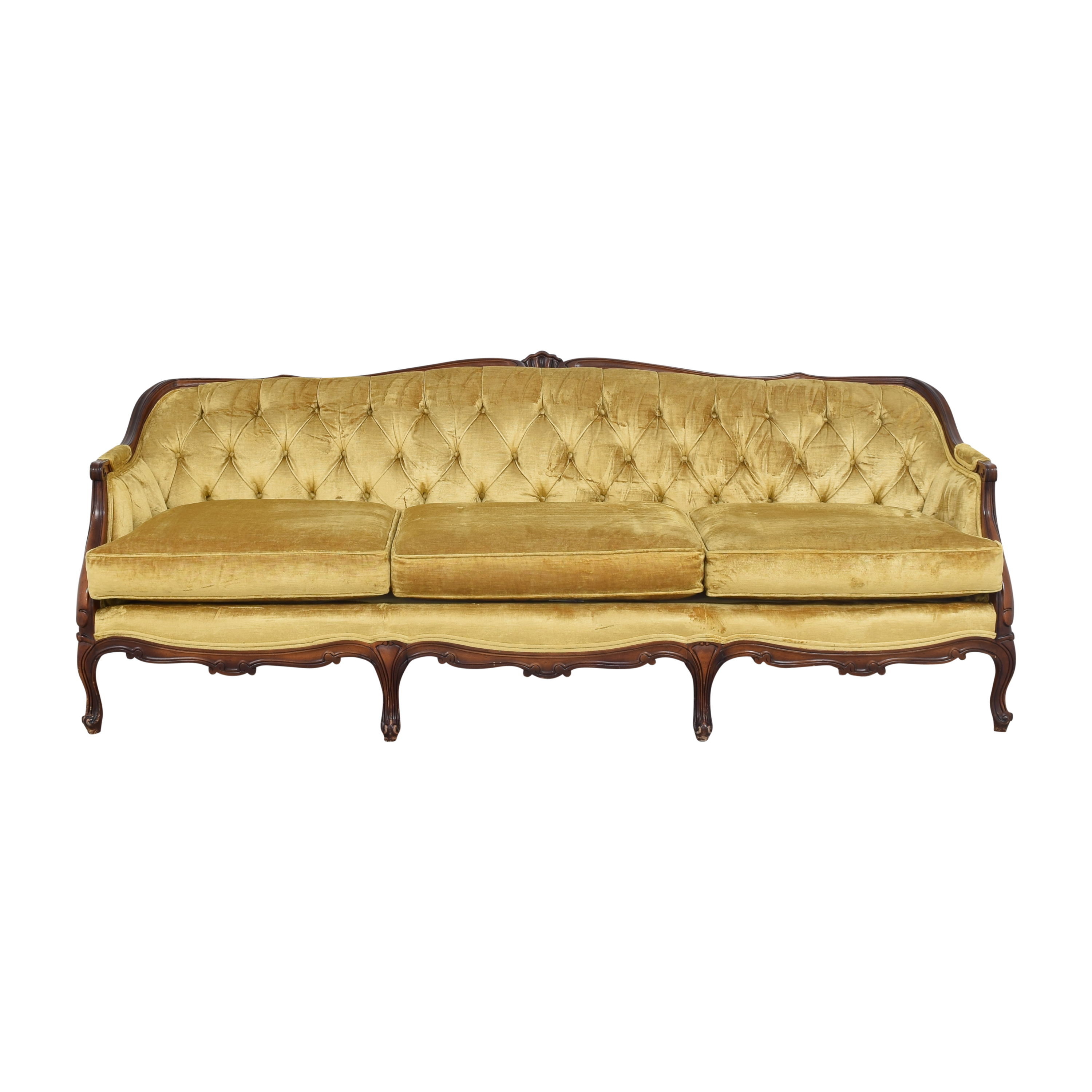 Key City Furniture Key City Furniture Tufted Sofa gold and brown