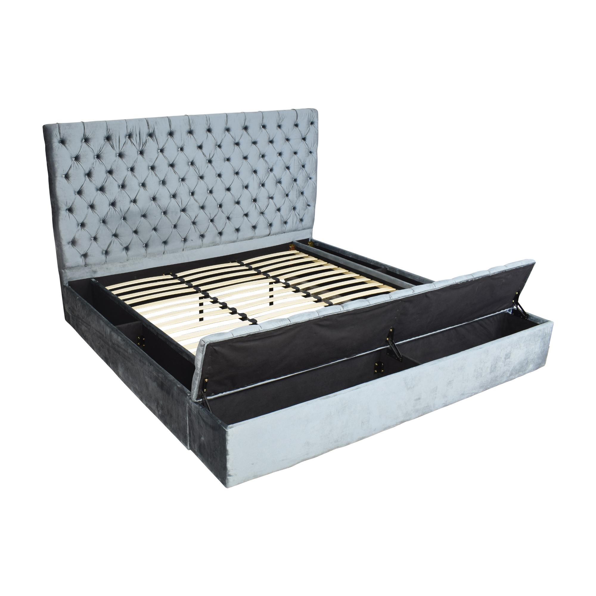 Meridian Furniture Meridian Bliss King Storage Bed dimensions
