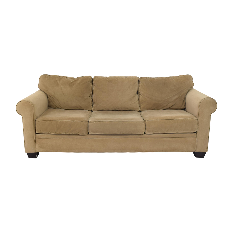 Macy's Macy's Three Cushion Sofa tan