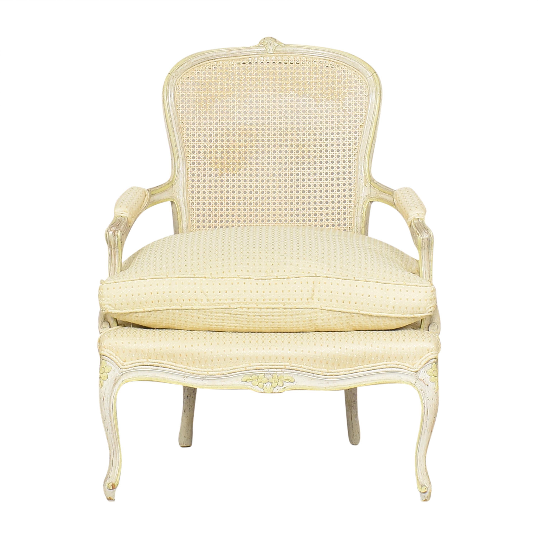 Vintage Cane Back Accent Chair discount