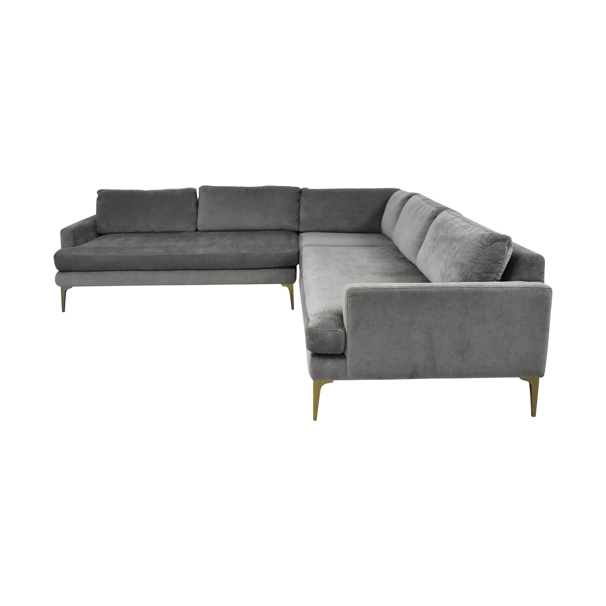 West Elm West Elm Andes Three Piece L Shaped Sectional Sofa