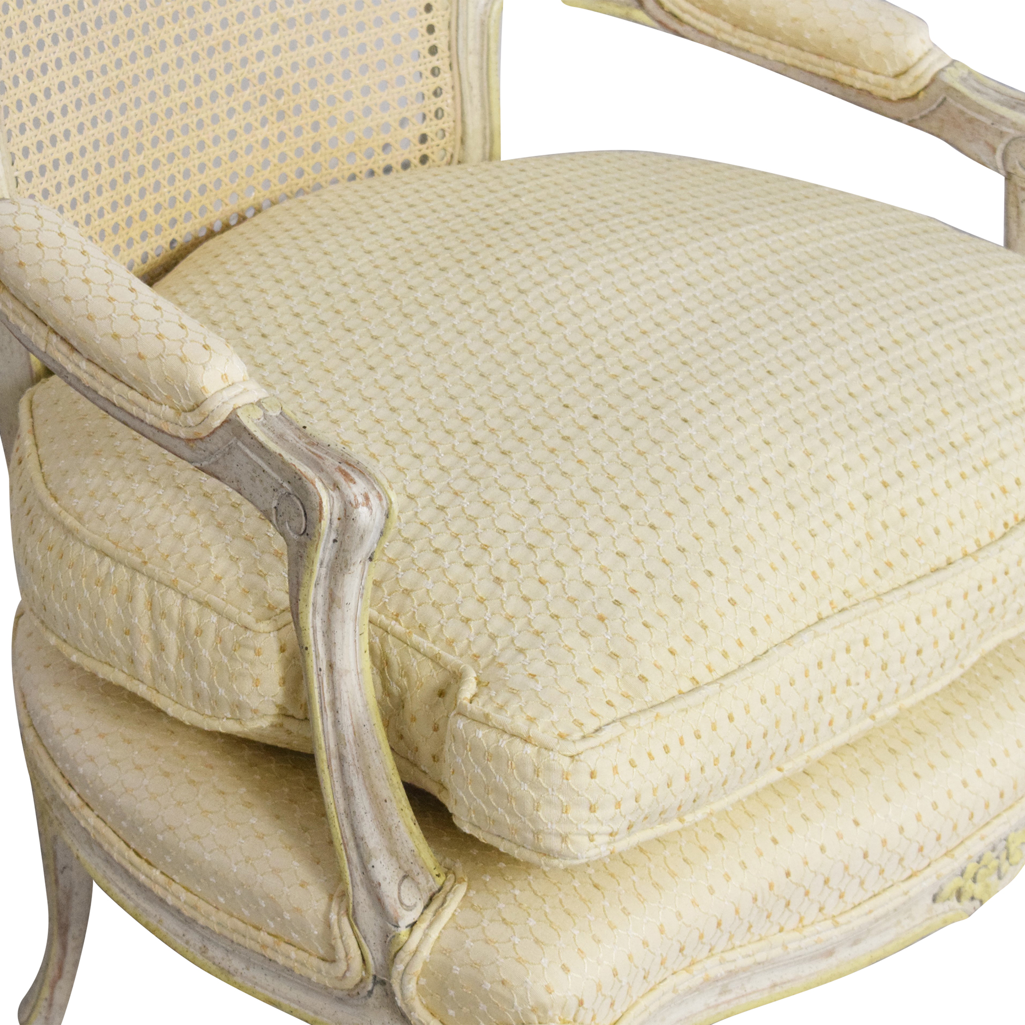 Vintage Cane Back Accent Chair pa