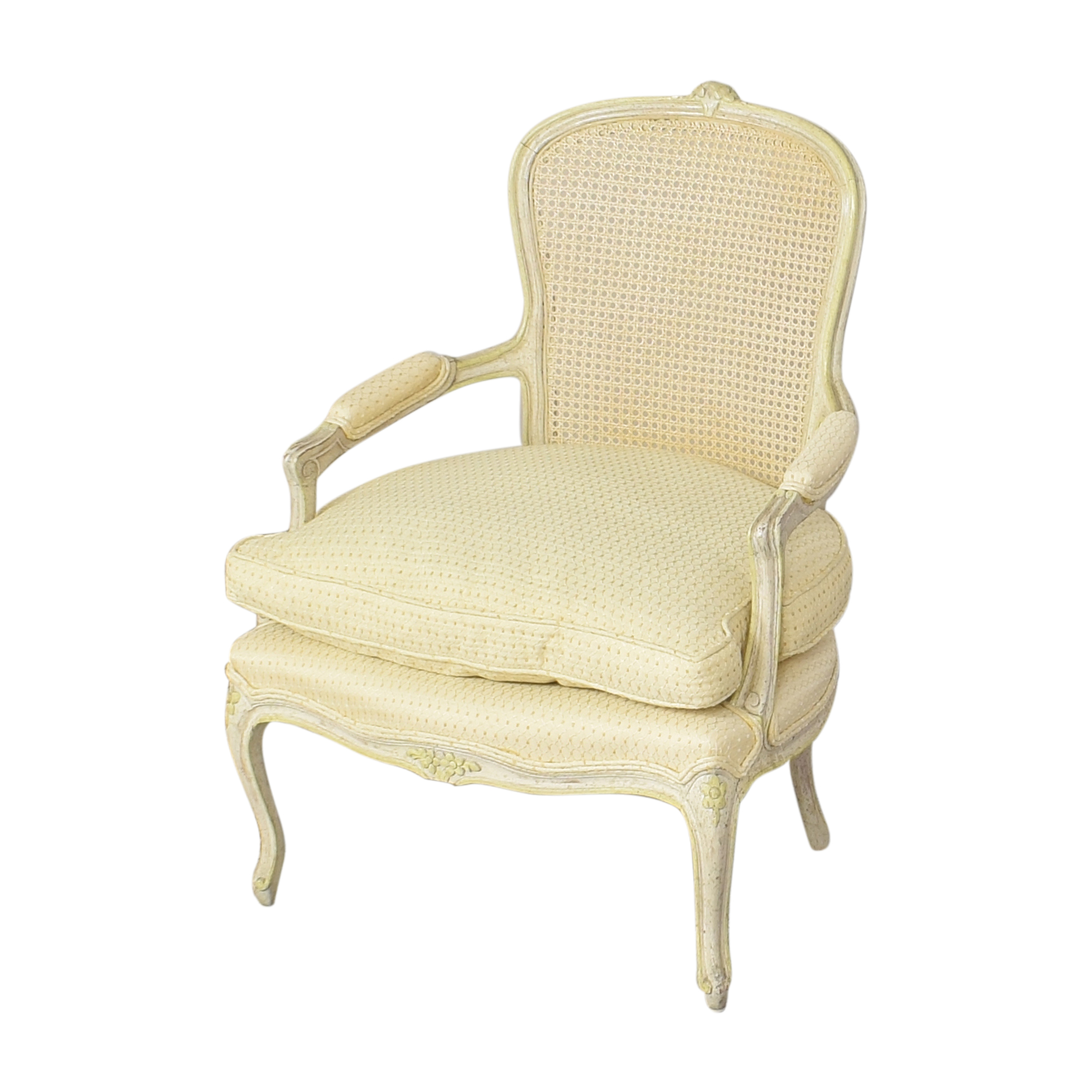 Vintage Cane Back Accent Chair coupon