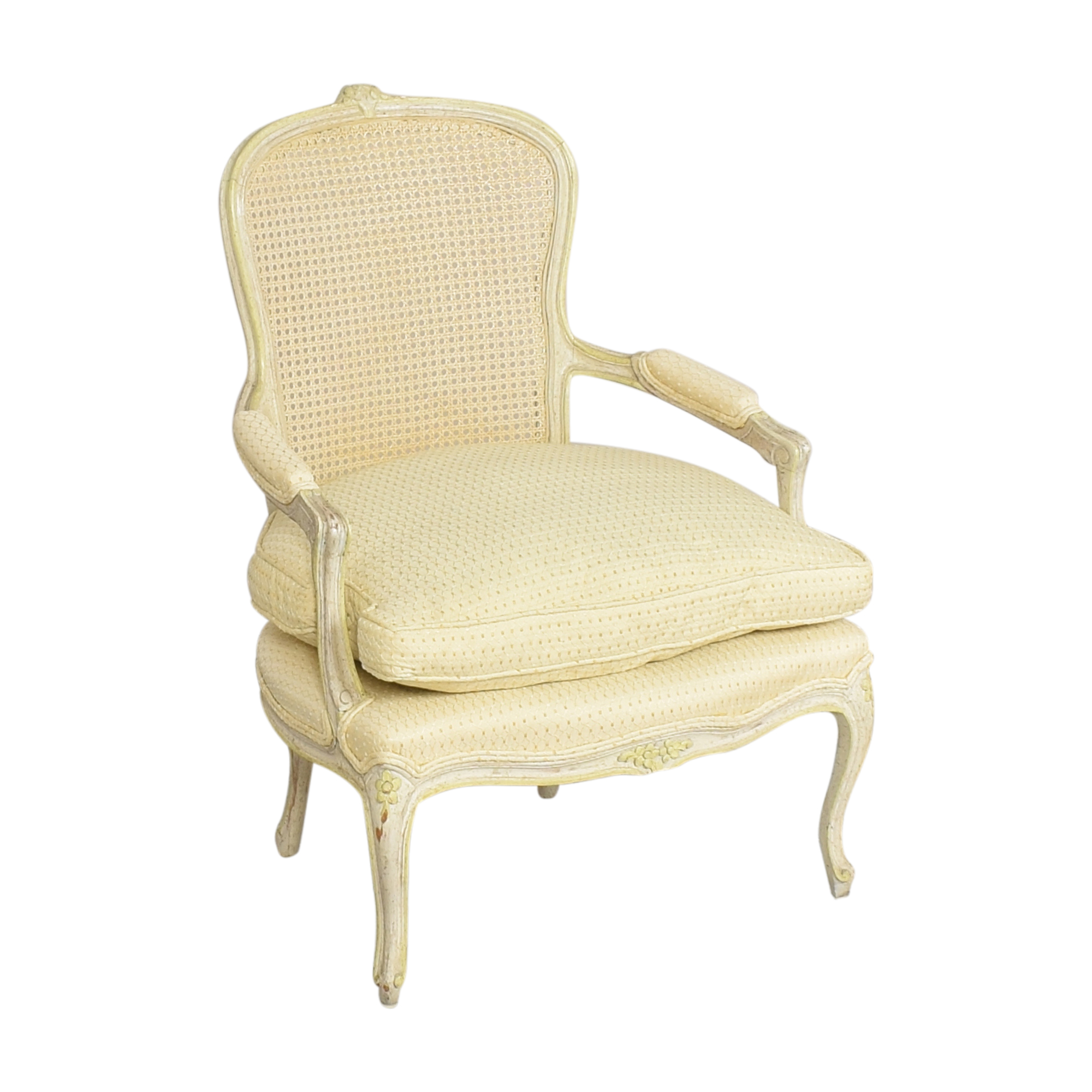 buy Vintage Cane Back Accent Chair  Chairs
