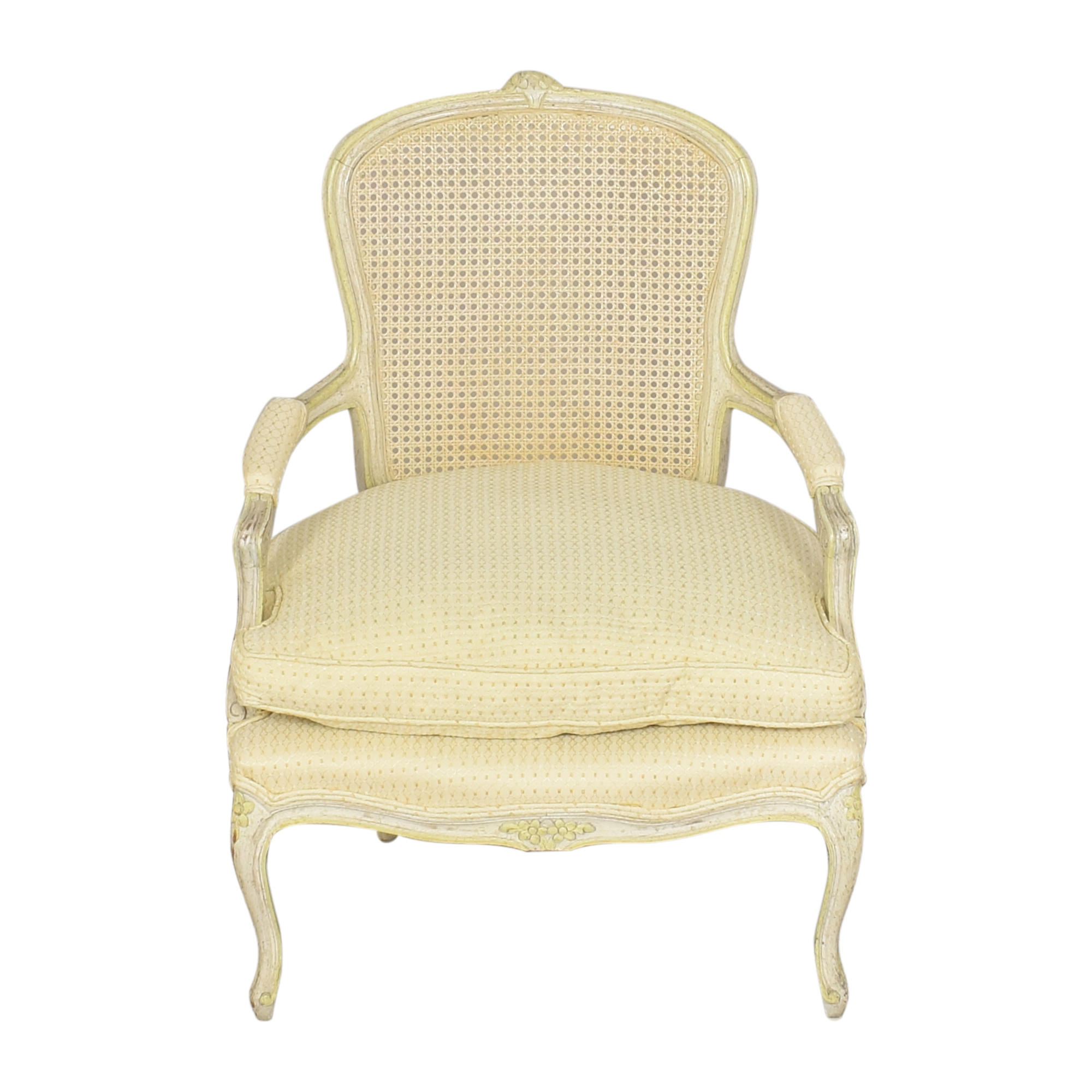 Vintage Cane Back Accent Chair Chairs