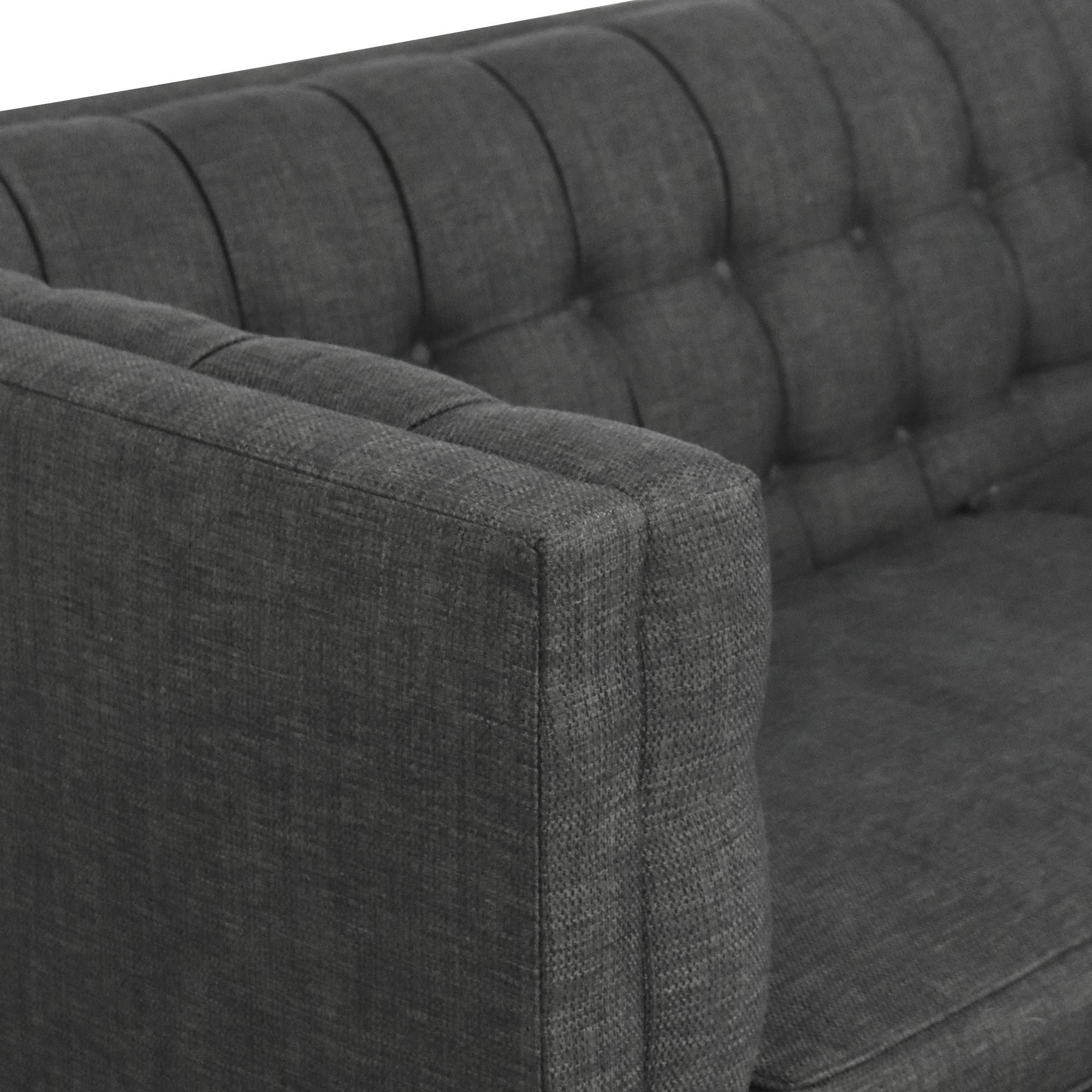 Raymour & Flanigan Raymour & Flanigan Tufted Two Cushion Sofa ma