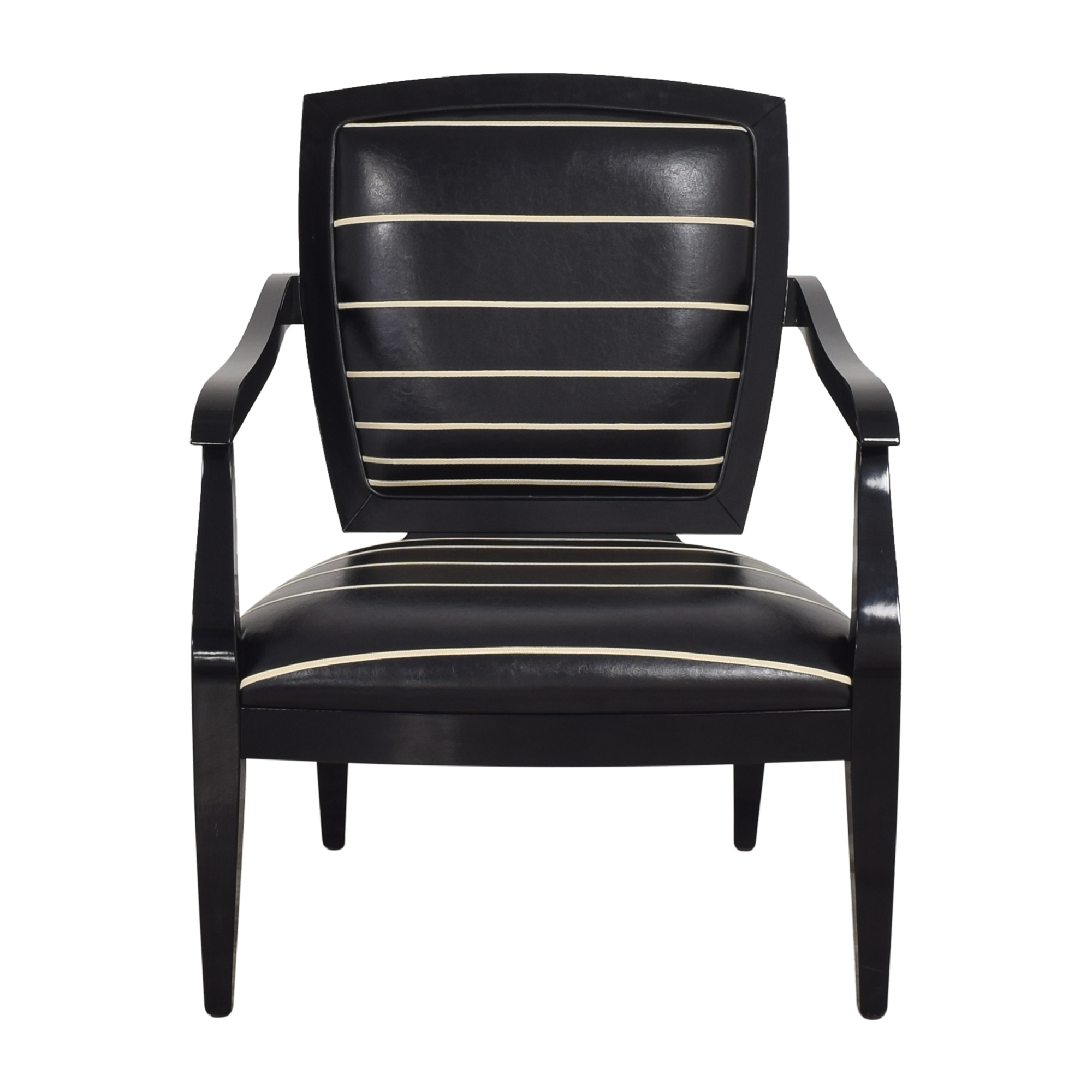 Smania Smania Striped Accent Chair used