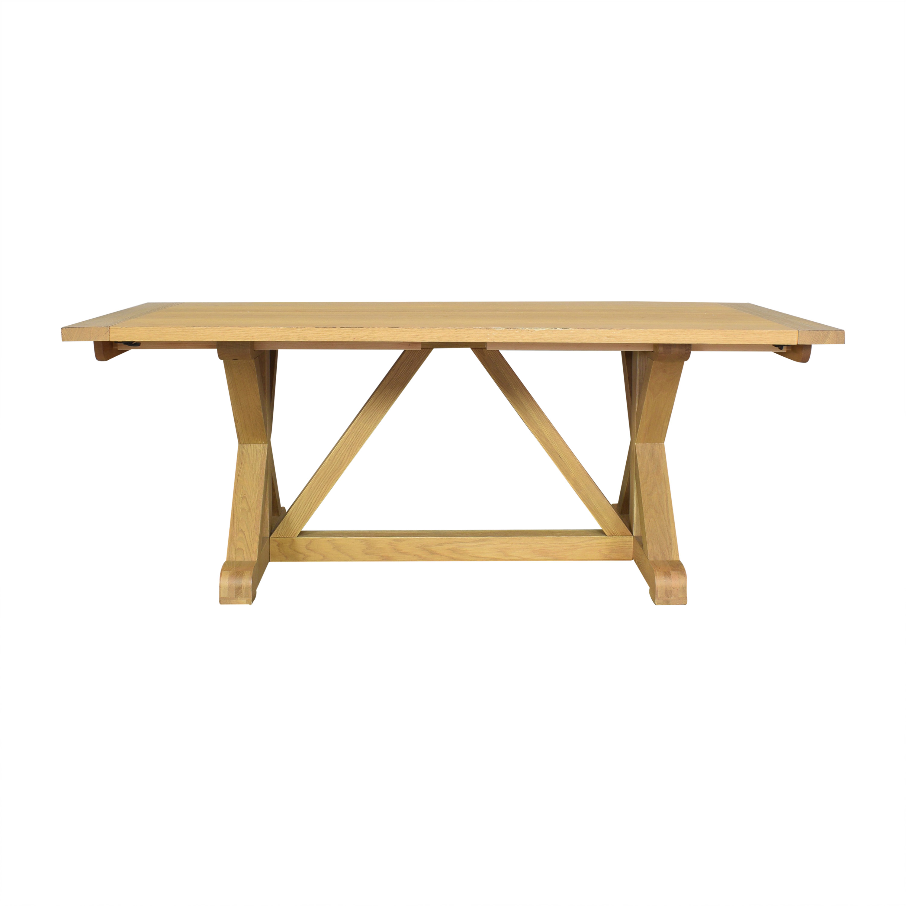 shop Williams-Sonoma Morgan Trestle Dining Table Williams Sonoma Dinner Tables