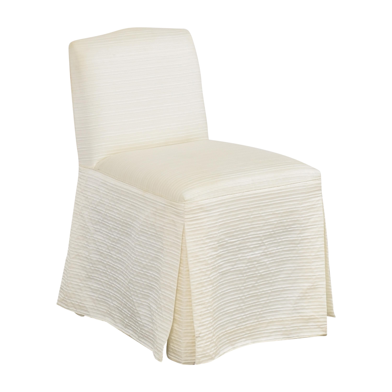 Nancy Corzine Nancy Corzine Claudette Slipper Dining Chair off white