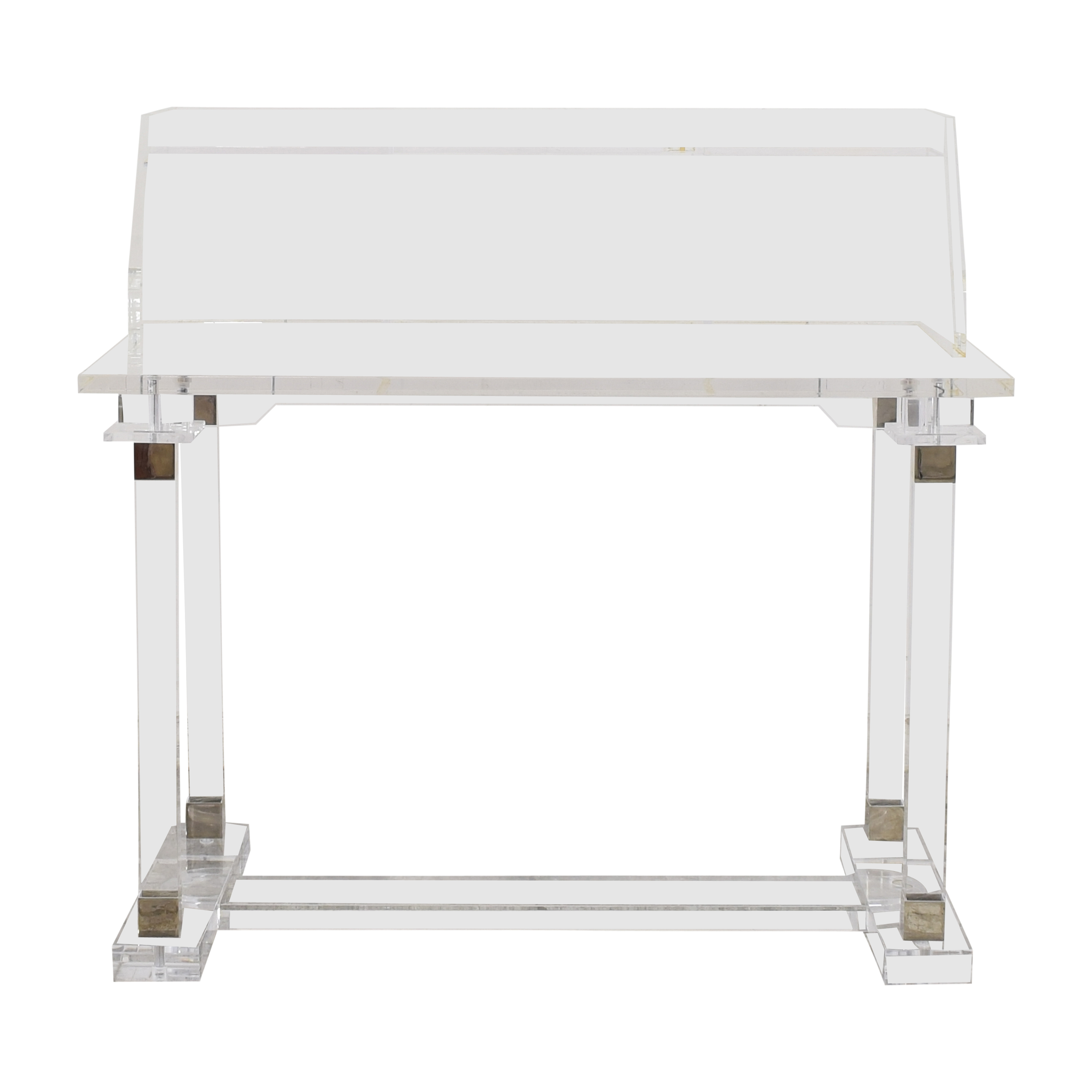 Transparent Modern Desk with Hutch nyc