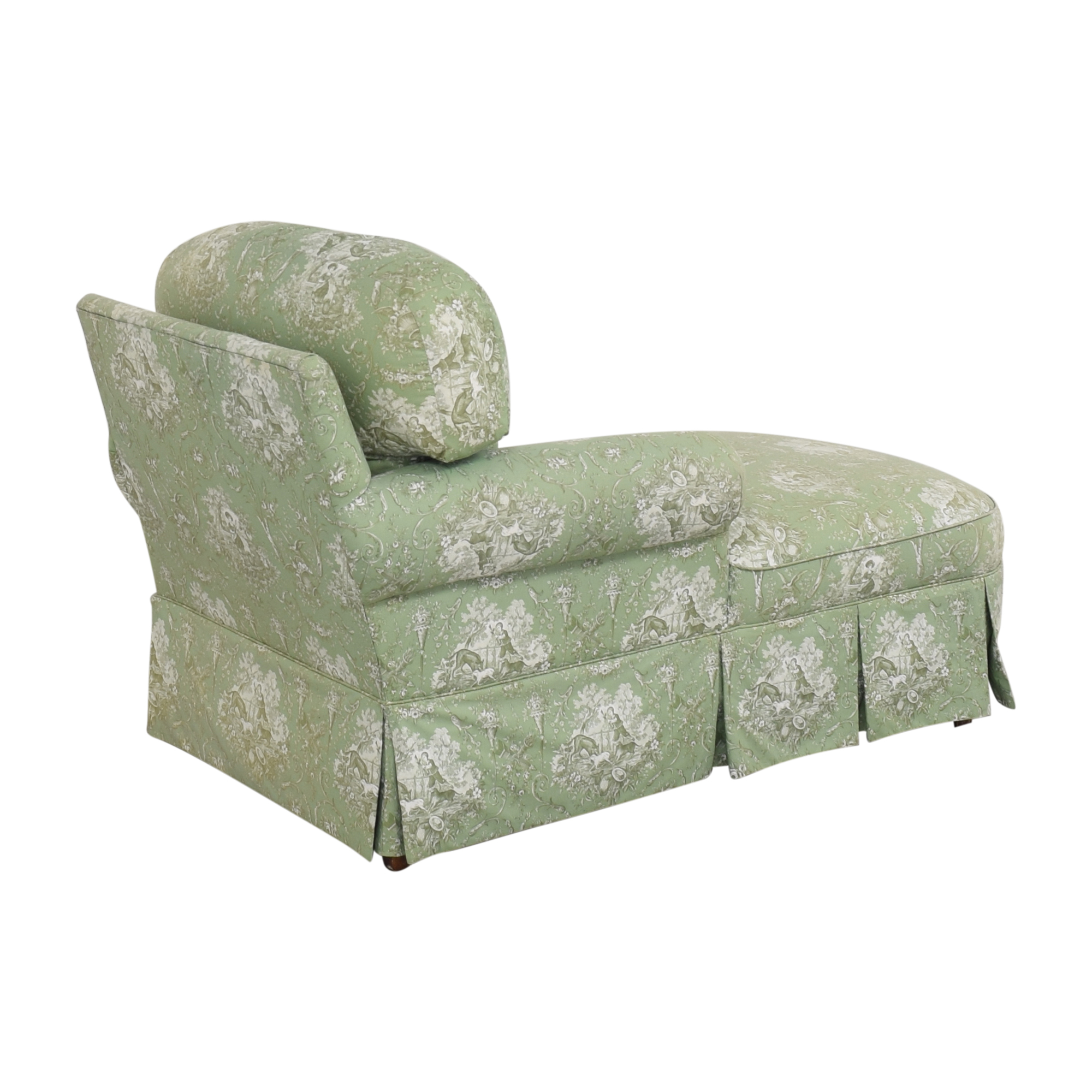 Pierre Deux Pierre Deux Skirted Chaise Lounge green and white