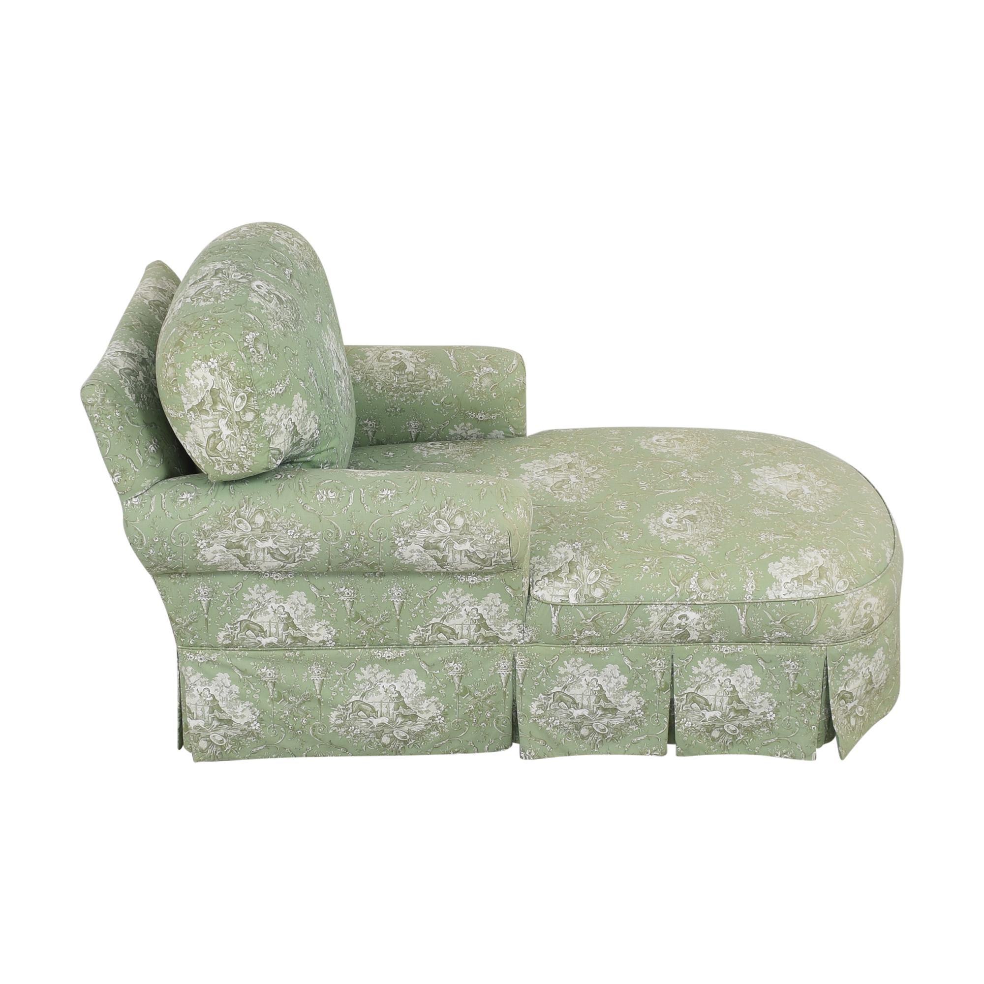 shop Pierre Deux Pierre Deux Skirted Chaise Lounge online