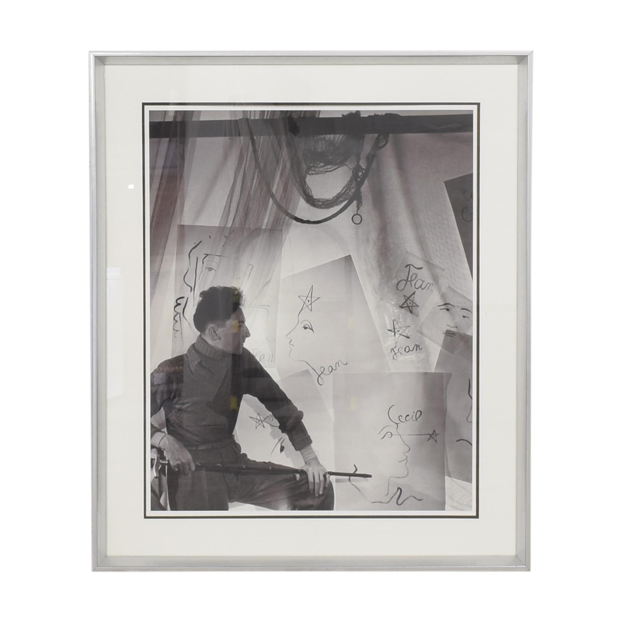 Lillian August Lillian August Jean Cocteau Self Portrait Print discount